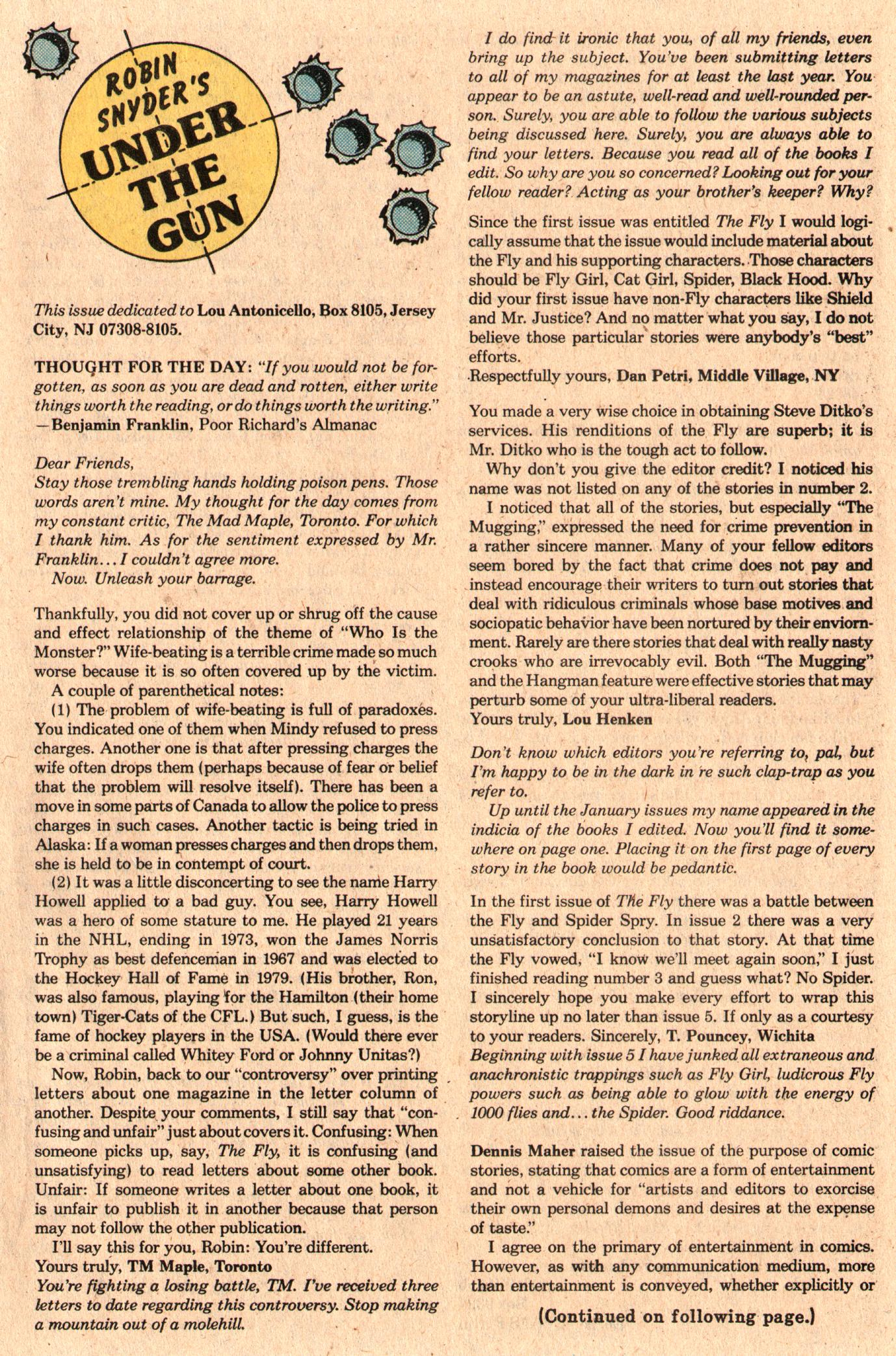 Read online The Fly (1983) comic -  Issue #6 - 21