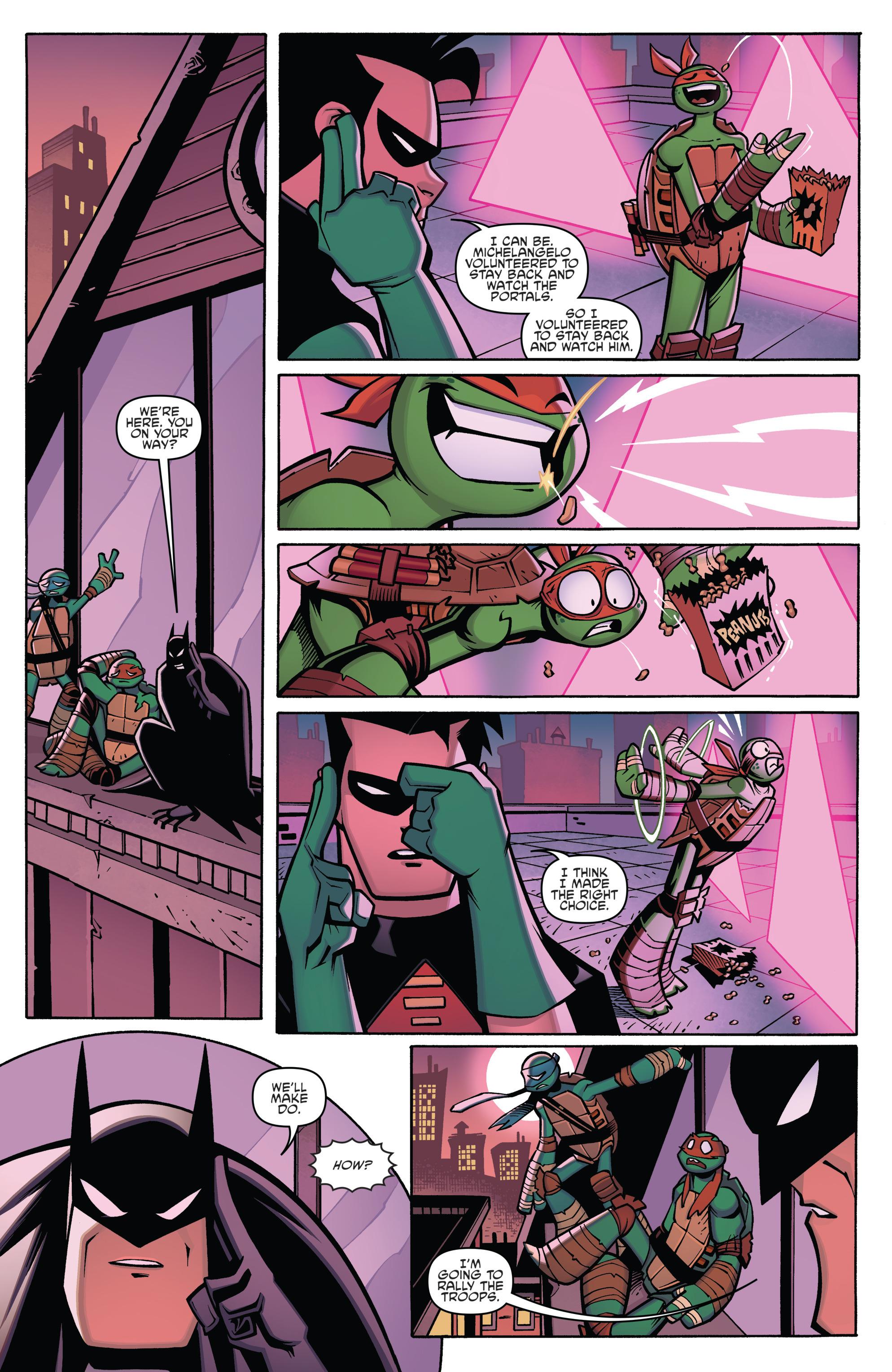 Read online Batman/Teenage Mutant Ninja Turtles Adventure comic -  Issue #4 - 16