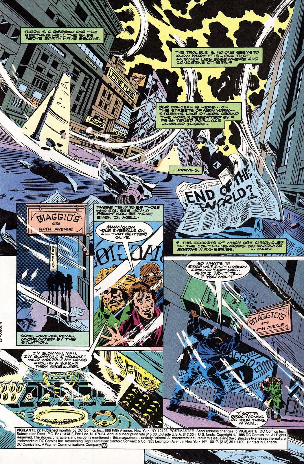 Vigilante (1983) issue 22 - Page 2