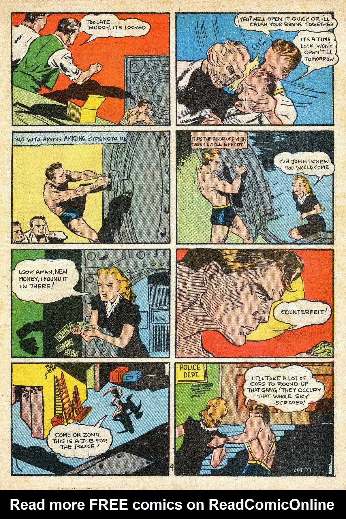 Read online Amazing Man Comics comic -  Issue #16 - 11