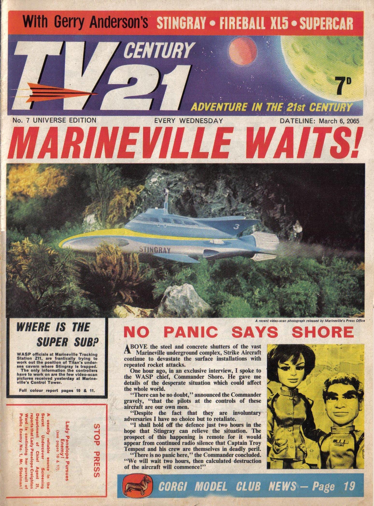 Read online TV Century 21 (TV 21) comic -  Issue #7 - 1