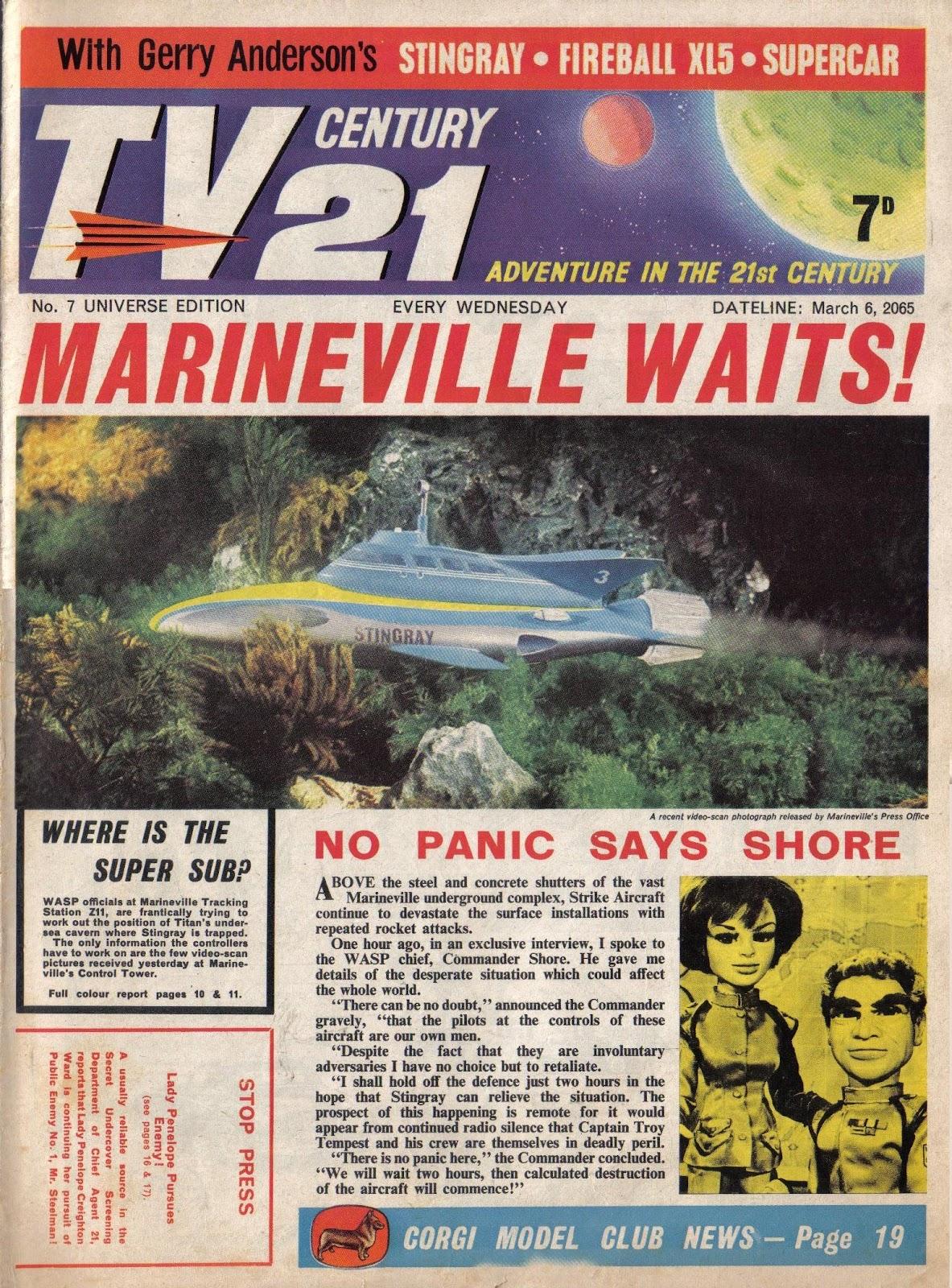 TV Century 21 (TV 21) issue 7 - Page 1