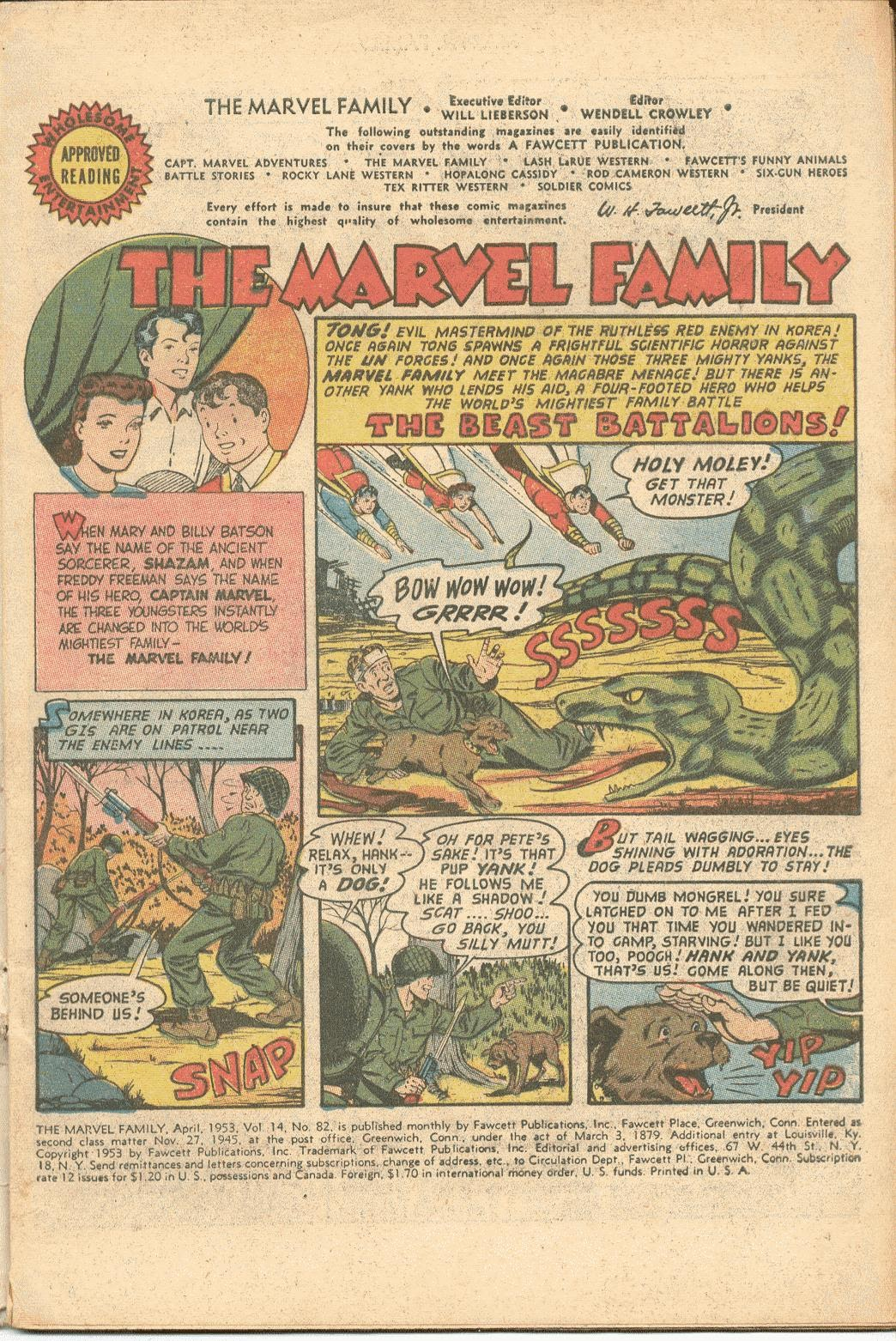 The Marvel Family issue 82 - Page 3