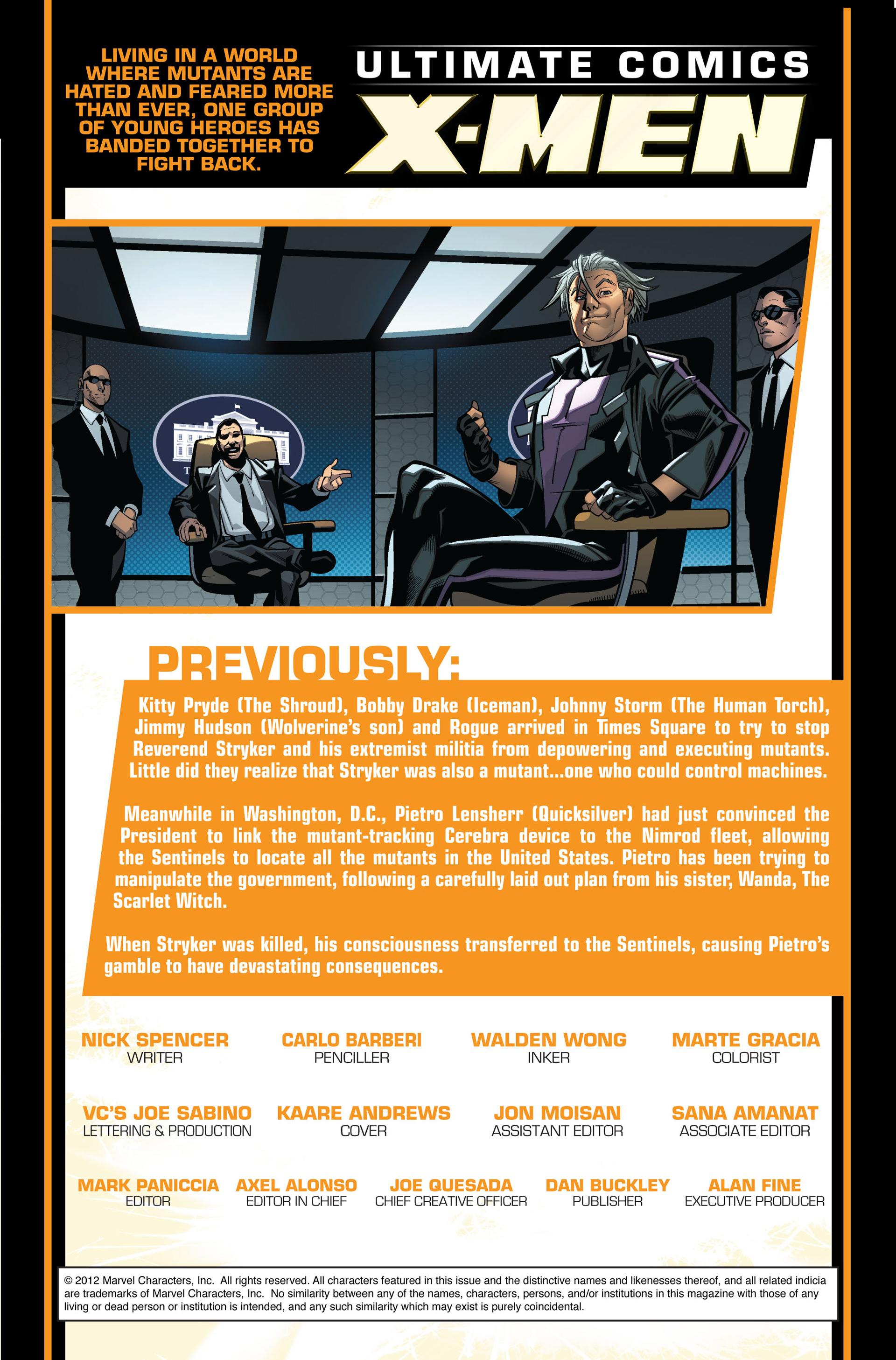 Read online Ultimate Comics X-Men comic -  Issue #7 - 2