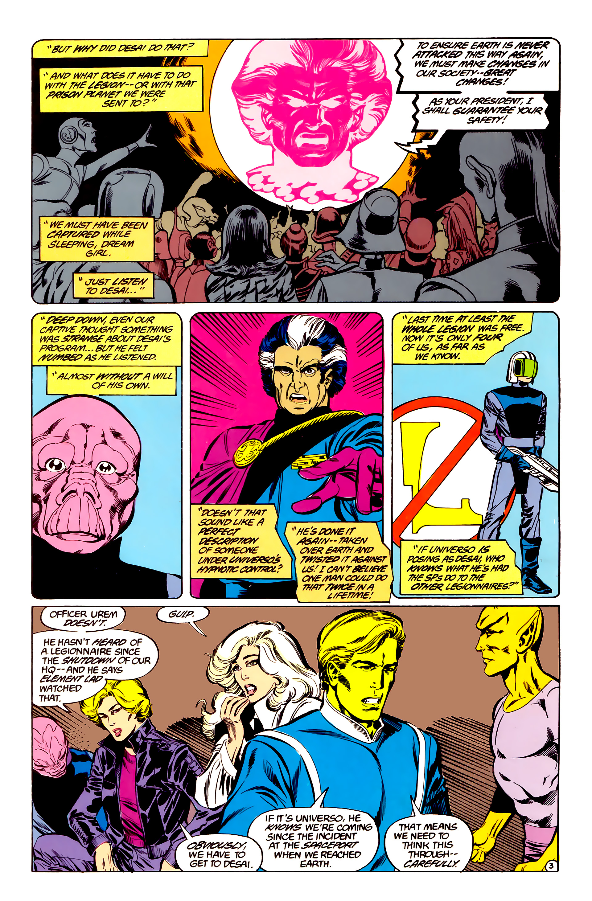 Legion of Super-Heroes (1984) 35 Page 3