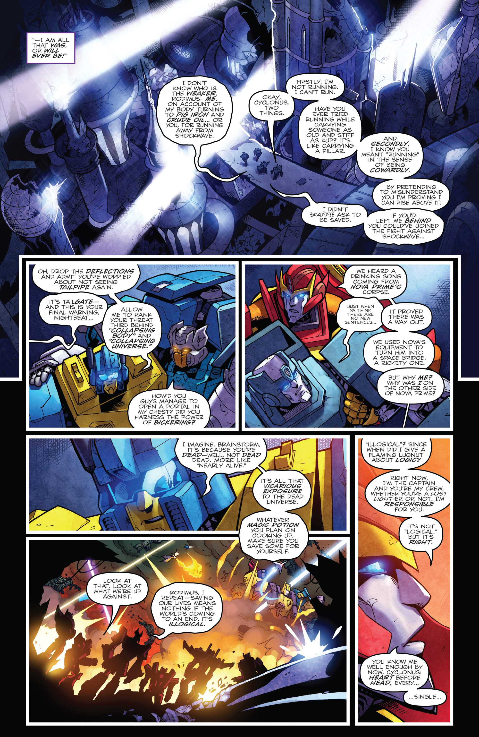Read online The Transformers: Dark Cybertron Finale comic -  Issue # Full - 132