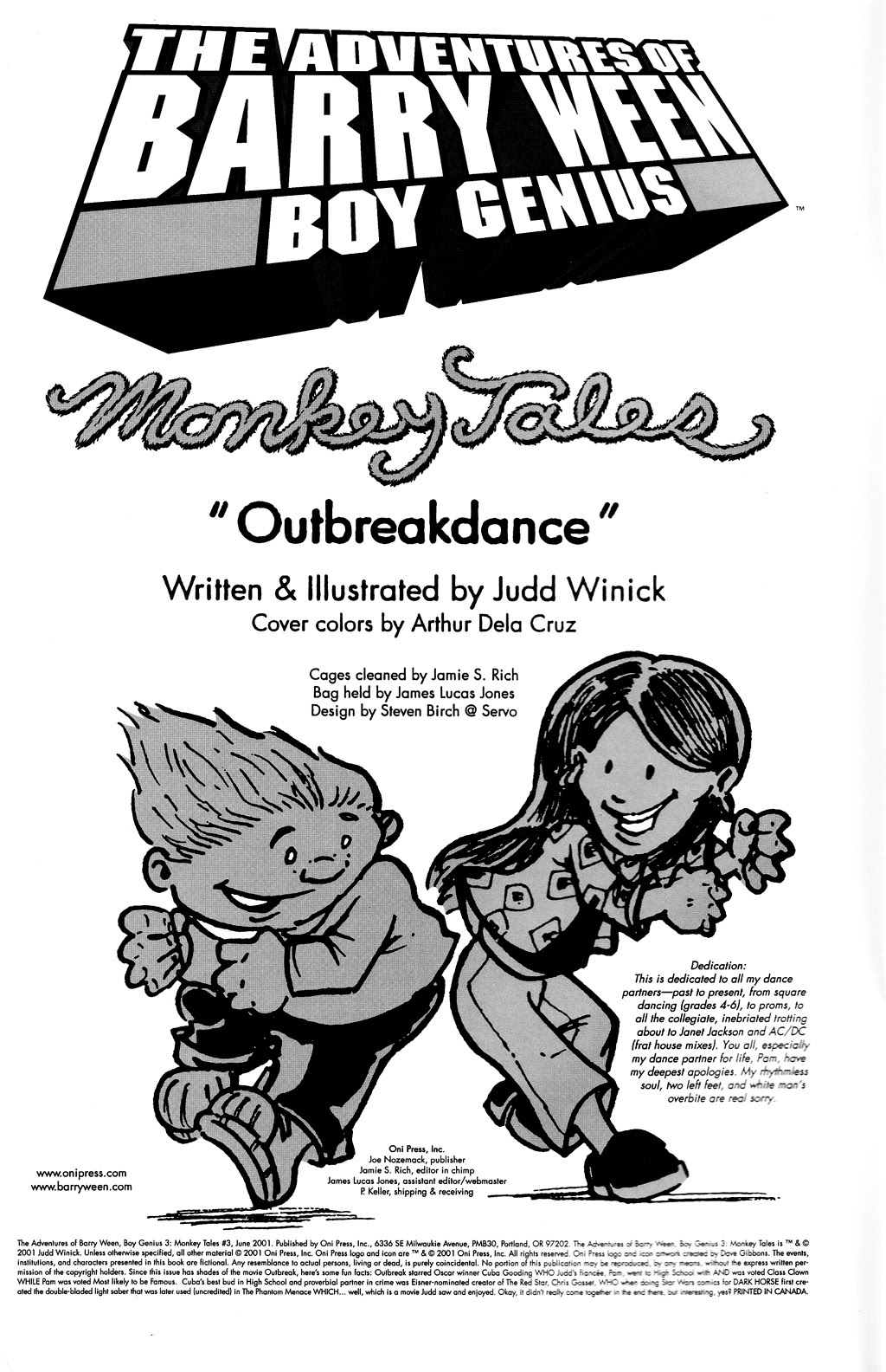 Read online The Adventures of Barry Ween, Boy Genius 3: Monkey Tales comic -  Issue #3 - 2