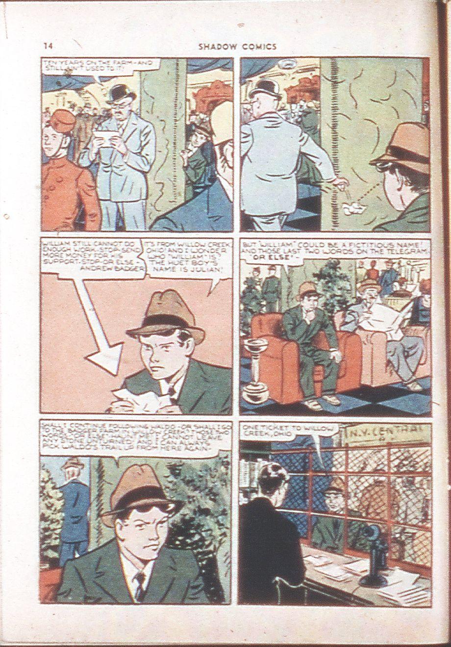 Read online Shadow Comics comic -  Issue #6 - 16