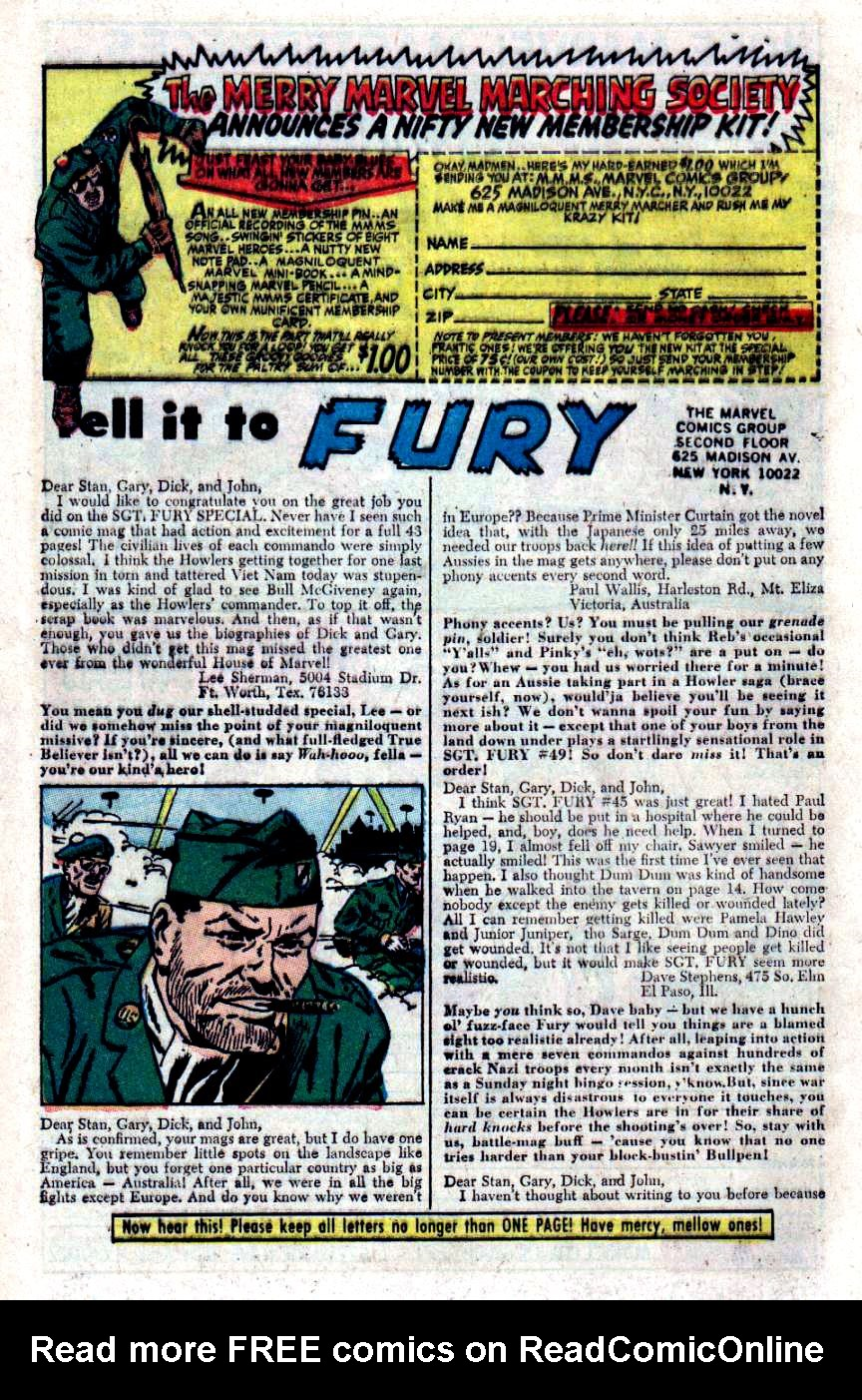 Read online Sgt. Fury comic -  Issue #48 - 31