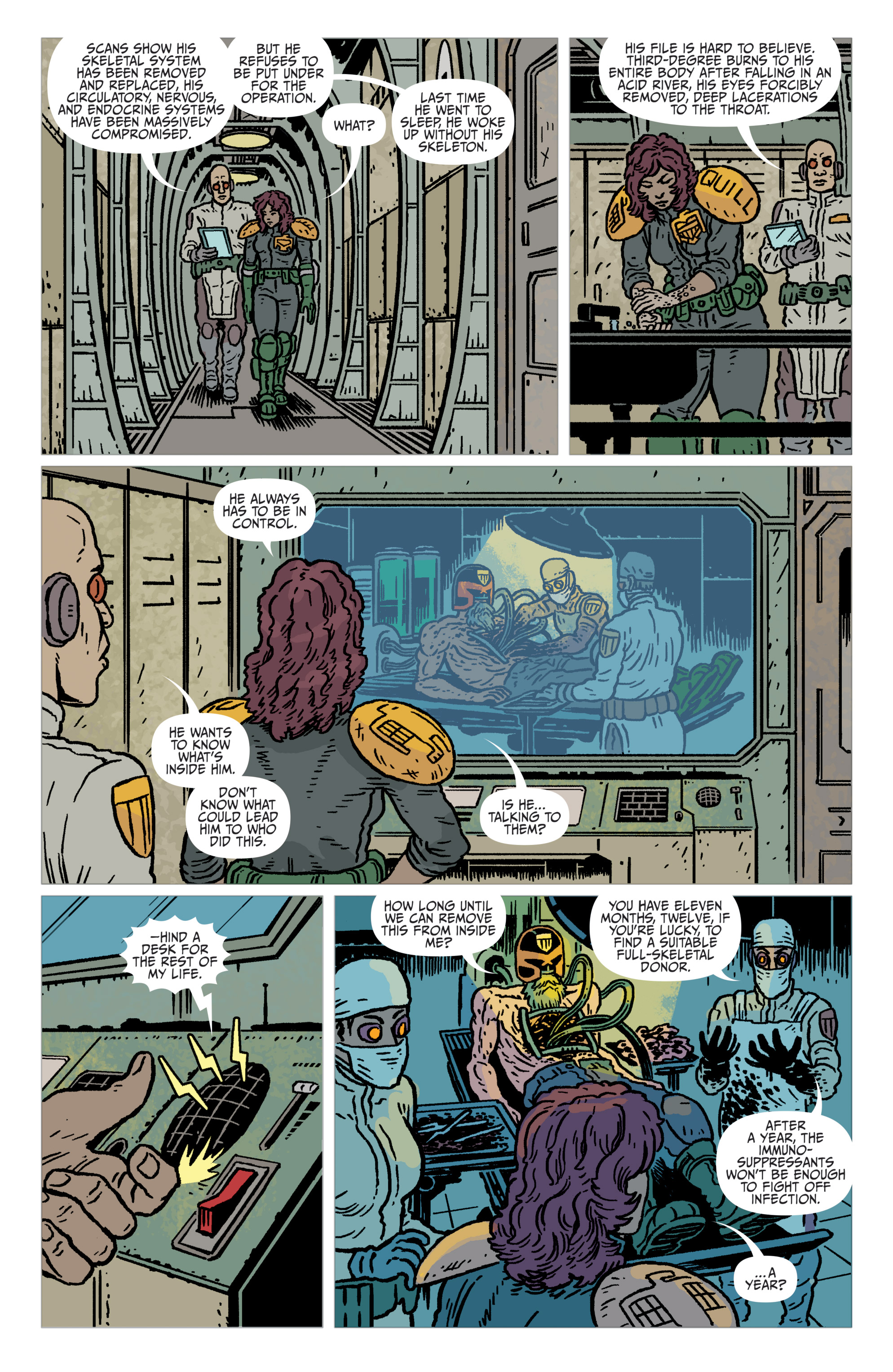 Read online Judge Dredd: The Blessed Earth comic -  Issue #2 - 8
