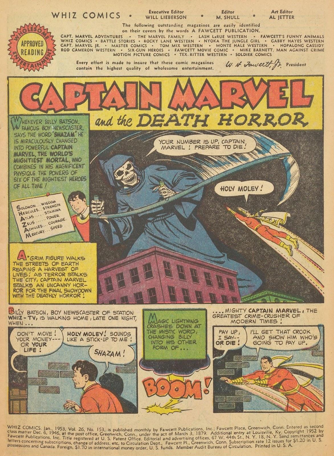 Read online WHIZ Comics comic -  Issue #153 - 3