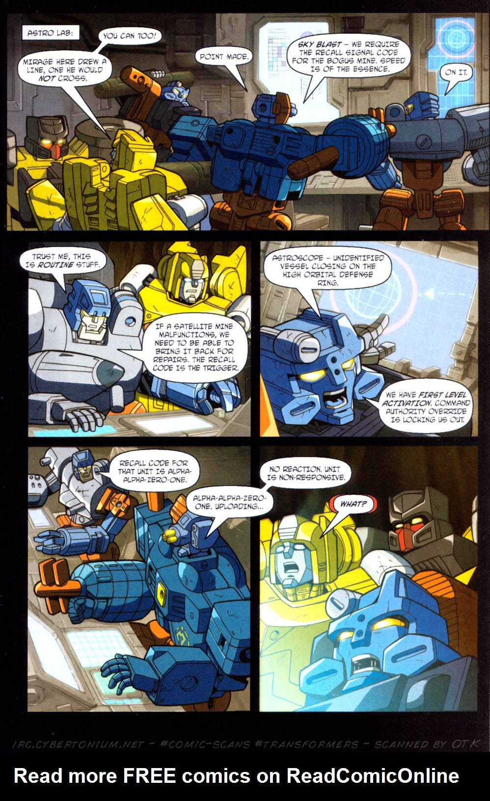 Read online Transformers Armada comic -  Issue #11 - 13