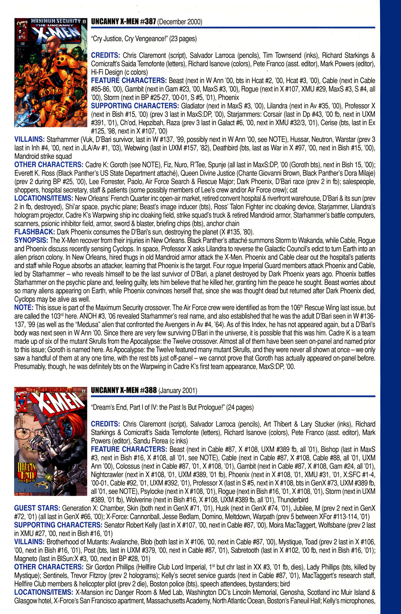 Read online Official Index to the Marvel Universe comic -  Issue #10 - 53
