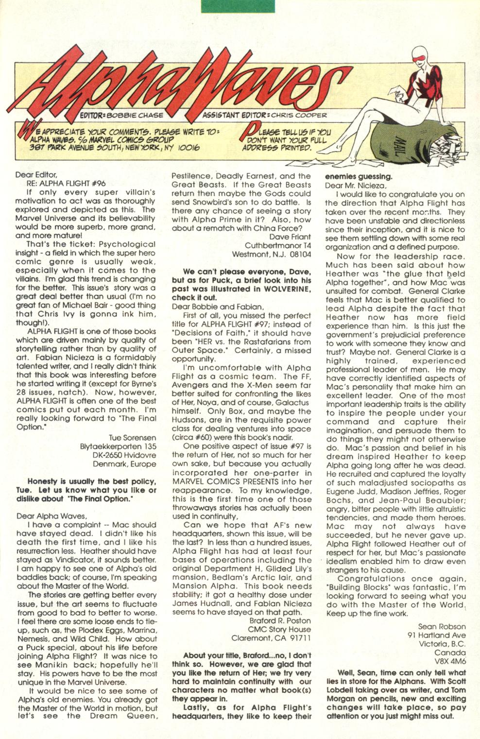 Read online Alpha Flight (1983) comic -  Issue #101 - 25