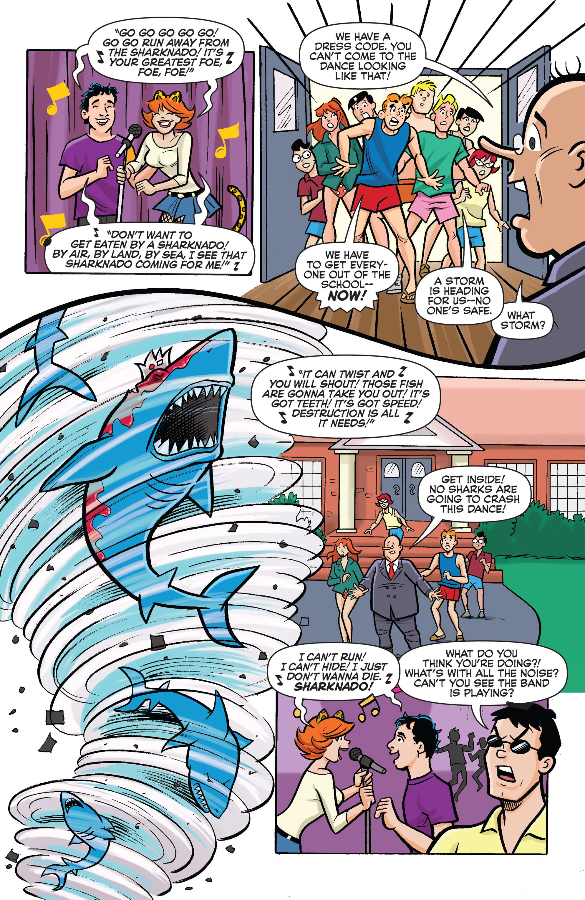 Read online Archie vs. Sharknado comic -  Issue #Archie vs. Sharknado Full - 27