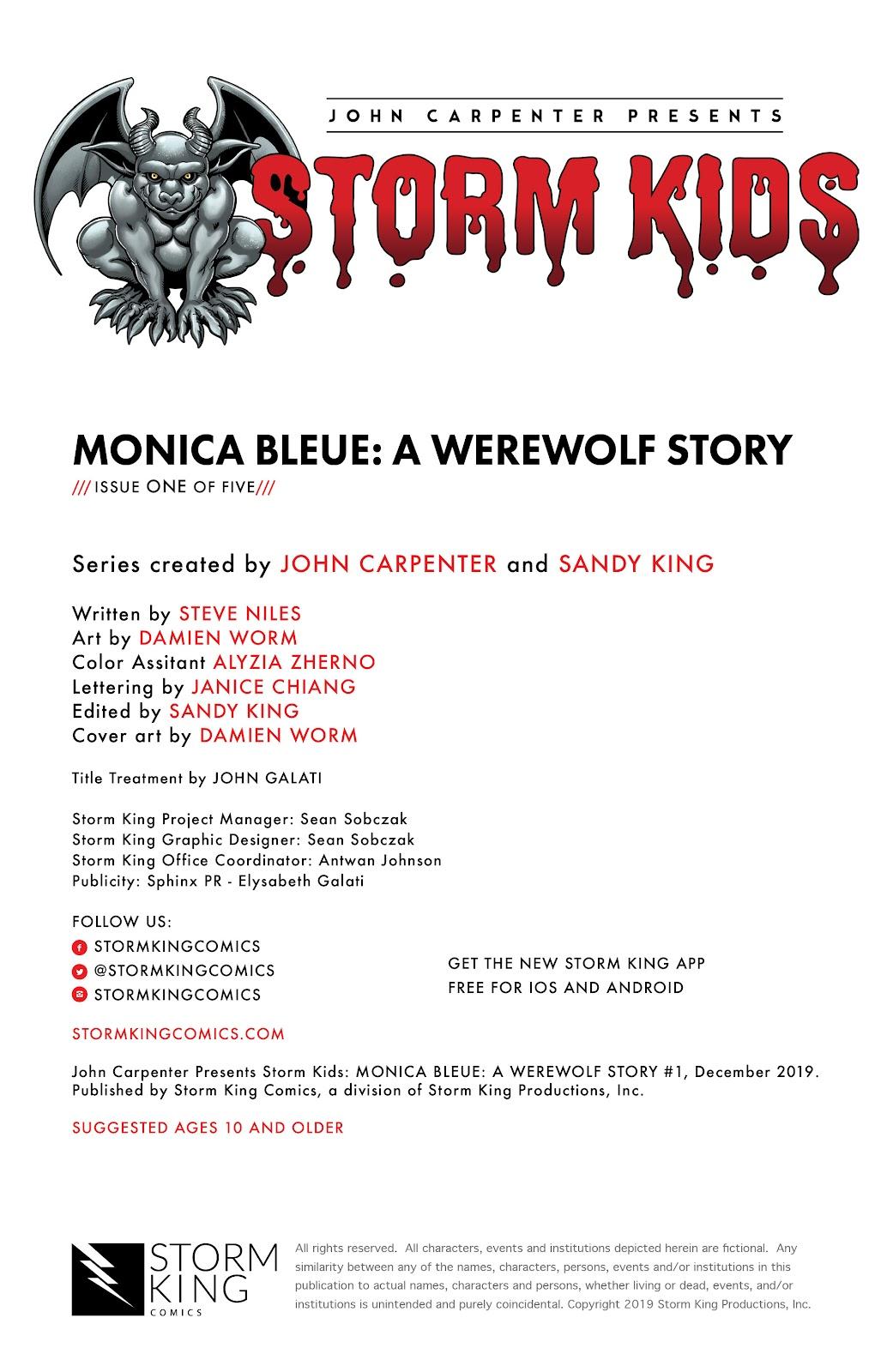 Read online John Carpenter Presents Storm Kids: Monica Bleue: A Werewolf Story comic -  Issue #1 - 2