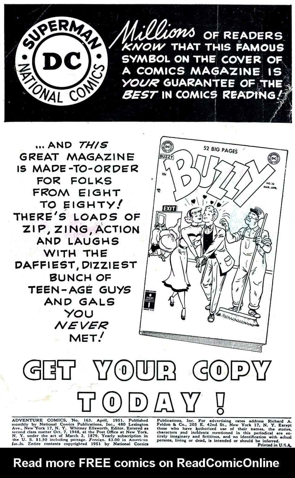 Read online Adventure Comics (1938) comic -  Issue #163 - 2