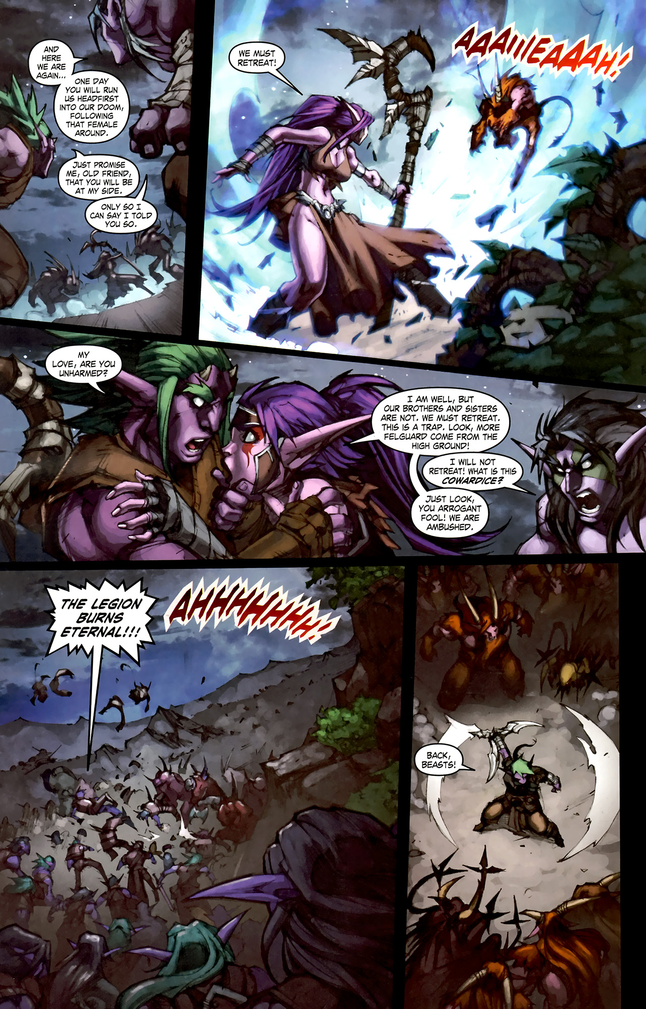 Read online World of Warcraft: Curse of the Worgen comic -  Issue #1 - 24