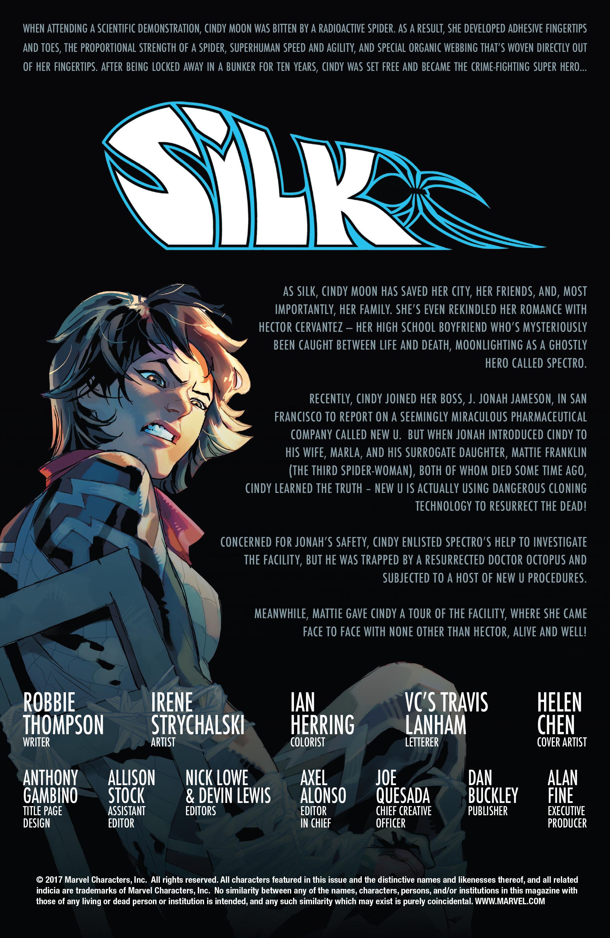 Read online Silk (2016) comic -  Issue #17 - 2