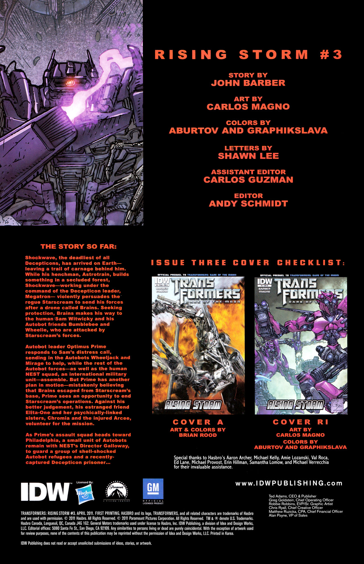 Read online Transformers: Dark of the Moon Rising Storm comic -  Issue #3 - 3