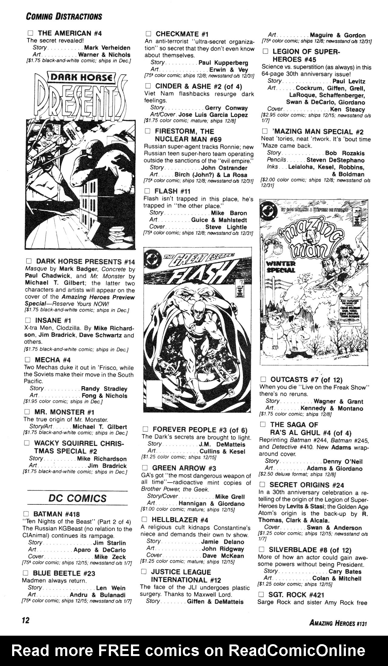 Read online Amazing Heroes comic -  Issue #131 - 12