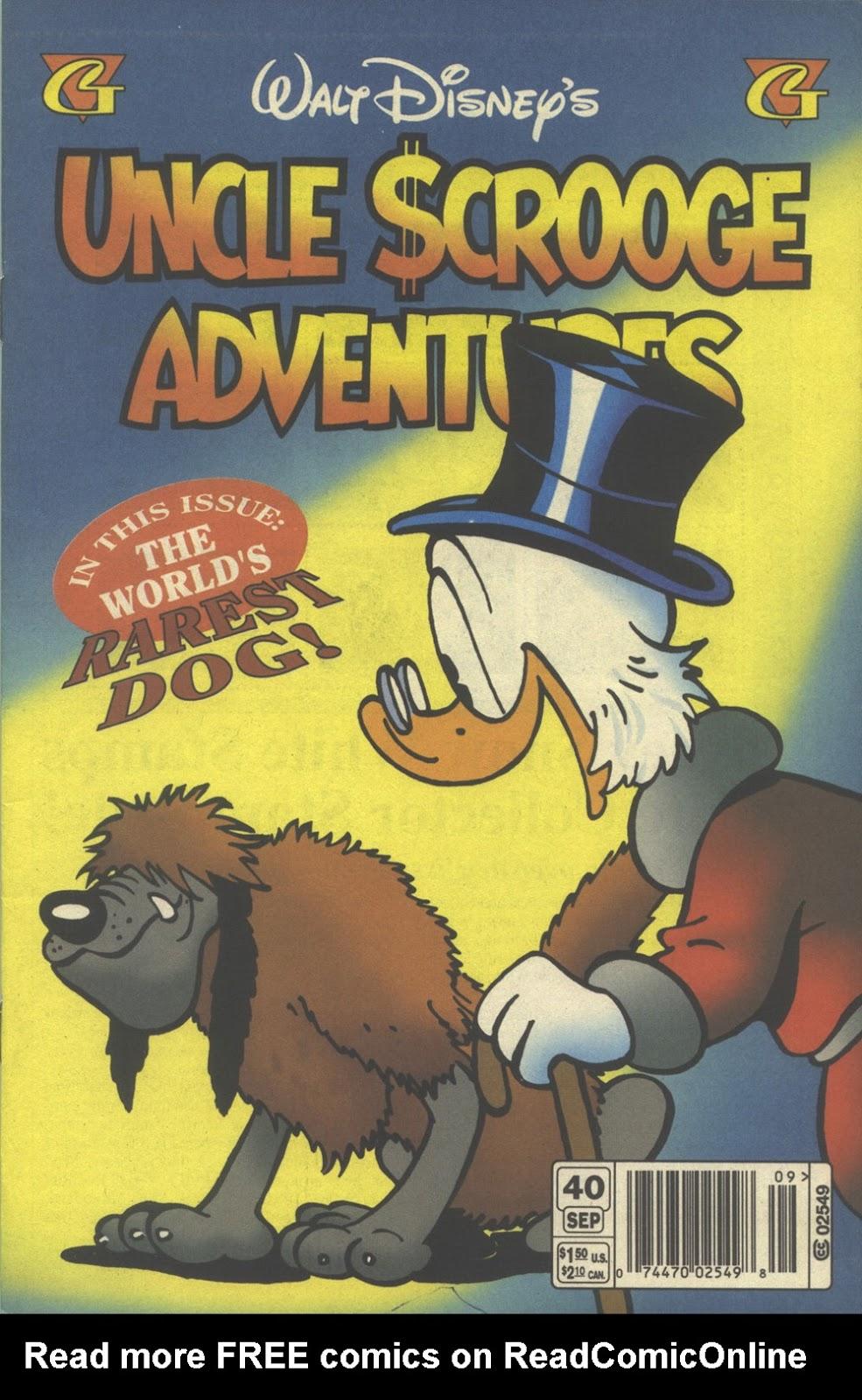 Walt Disney's Uncle Scrooge Adventures issue 40 - Page 1
