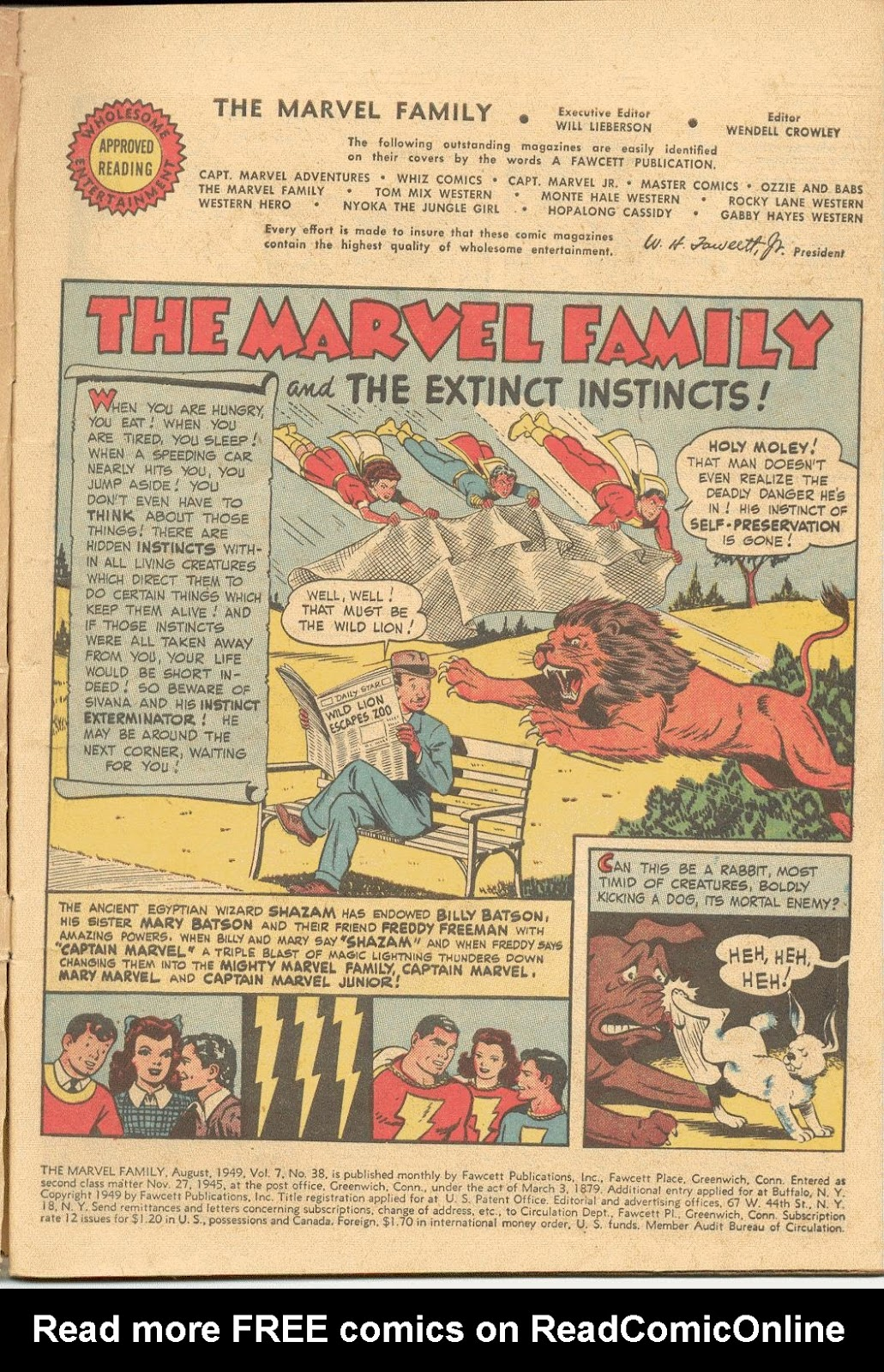The Marvel Family issue 38 - Page 3