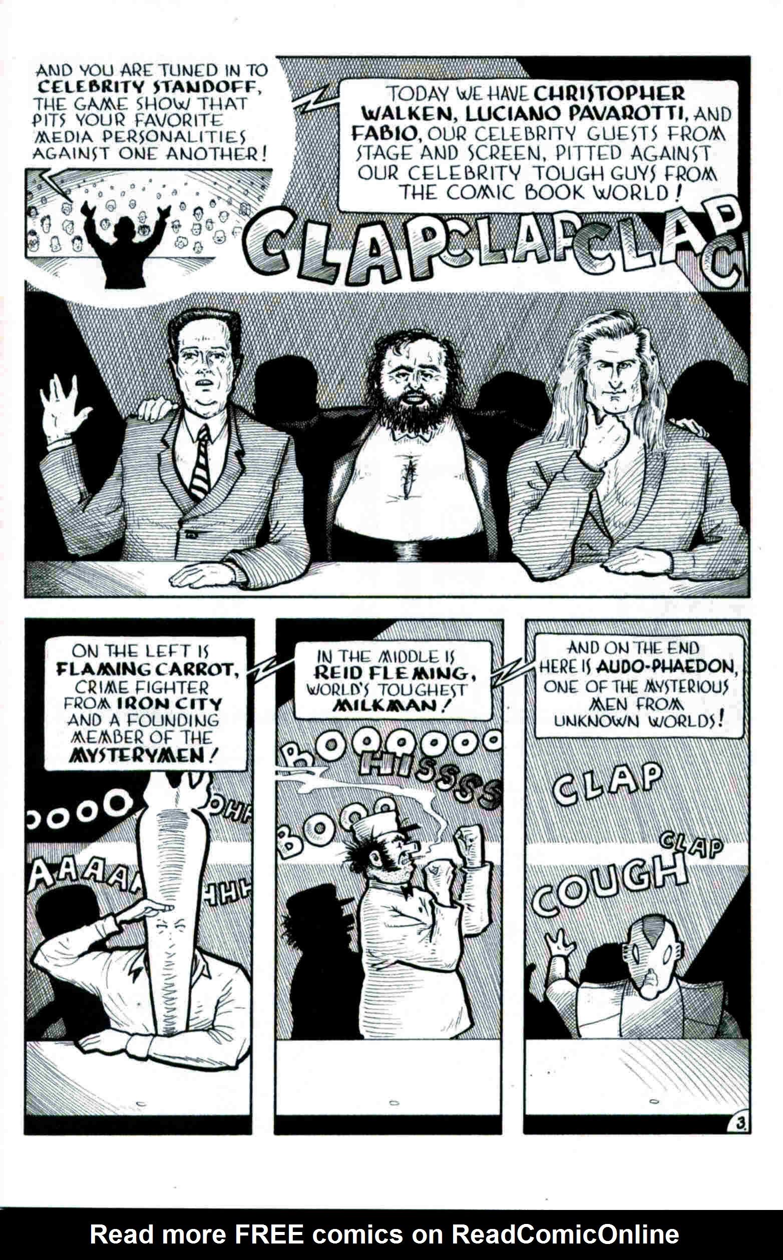 Read online Flaming Carrot & Reid Fleming, World's Toughest Milkman comic -  Issue # Full - 3