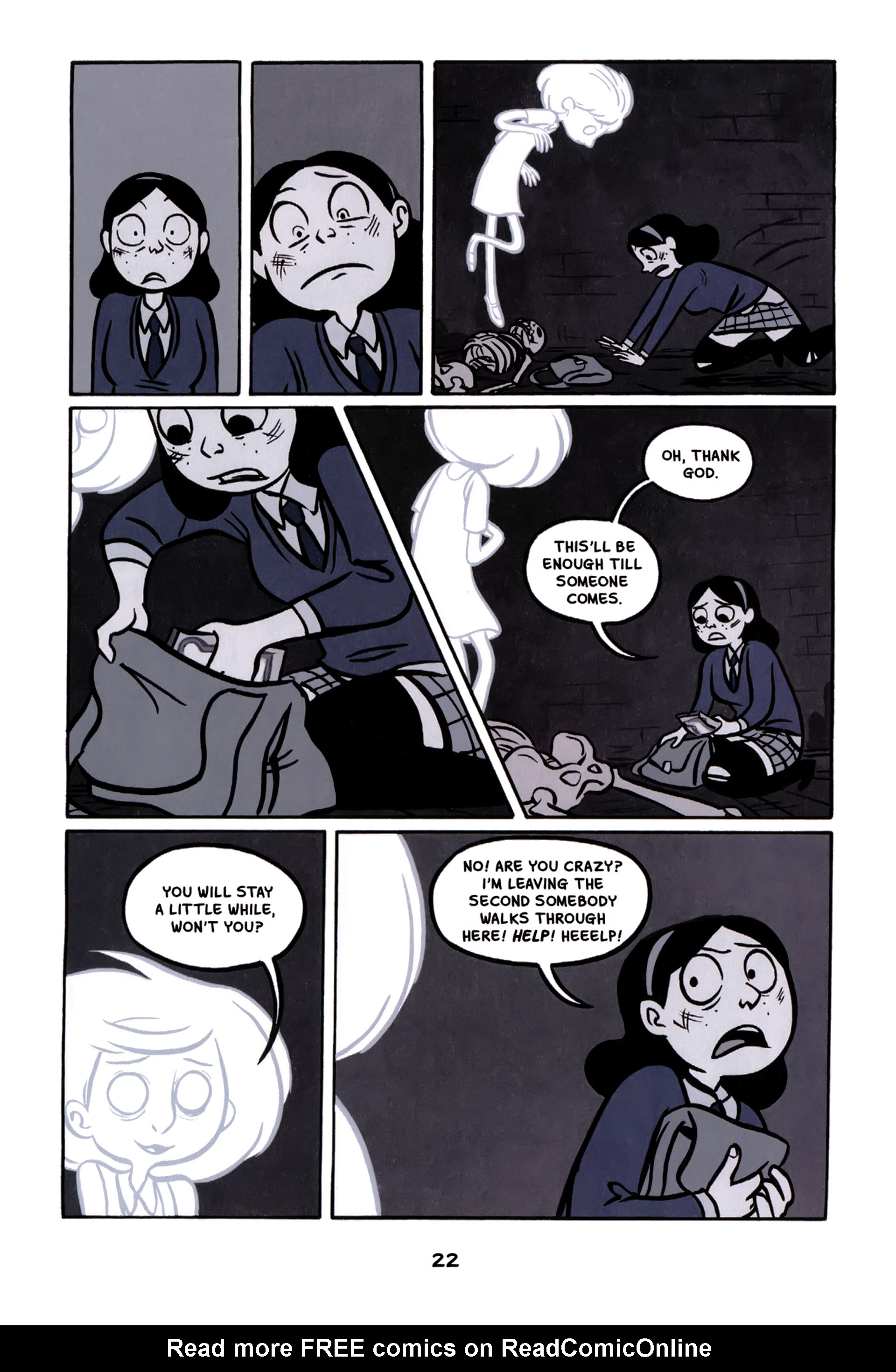 Read online Anya's Ghost comic -  Issue #1 - 23