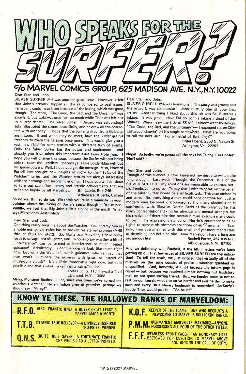 Read online Silver Surfer (1968) comic -  Issue #6 - 64