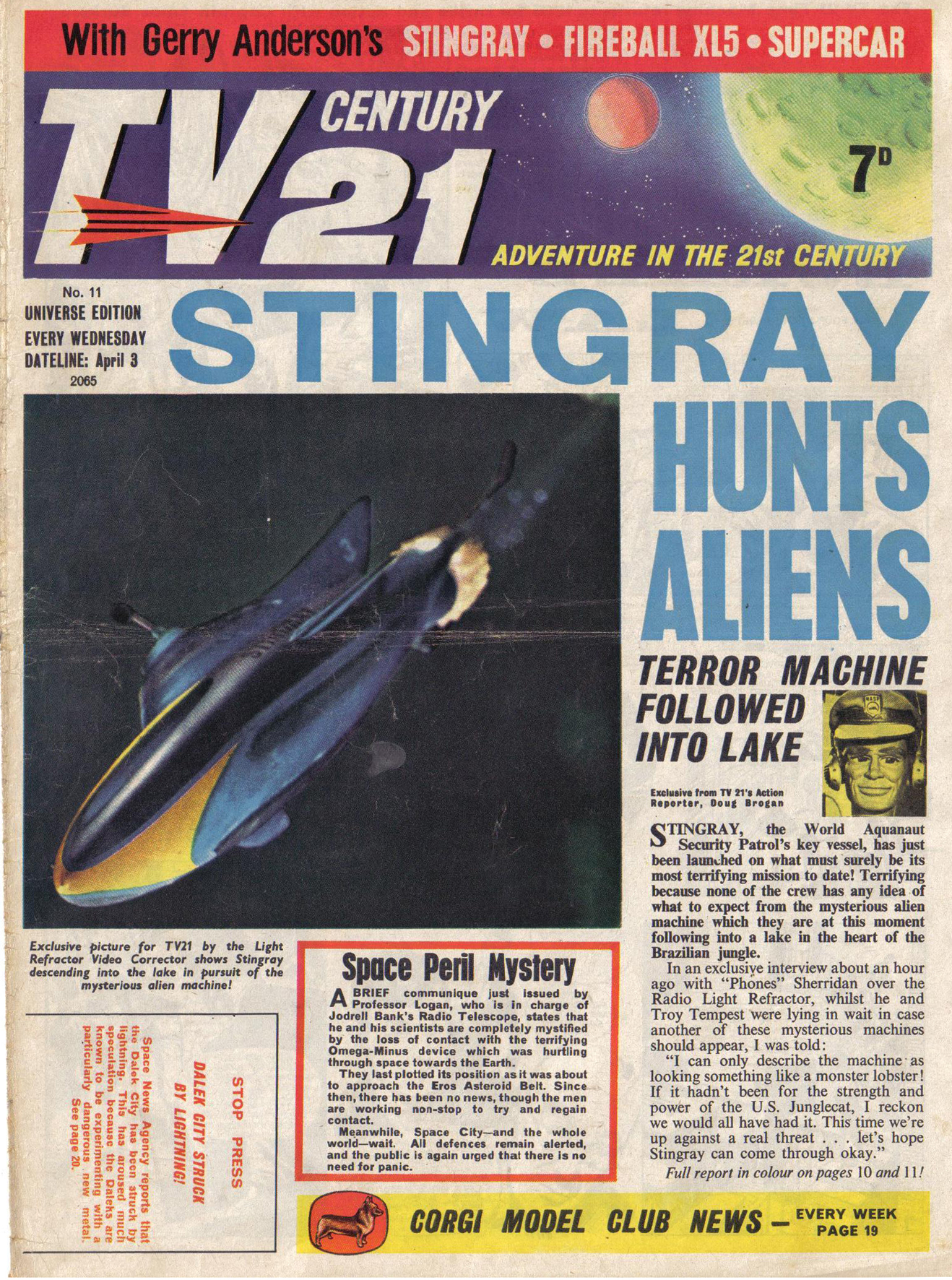 Read online TV Century 21 (TV 21) comic -  Issue #11 - 1