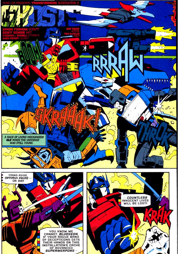 Read online Transformers: Generation 2 comic -  Issue #0 - 2