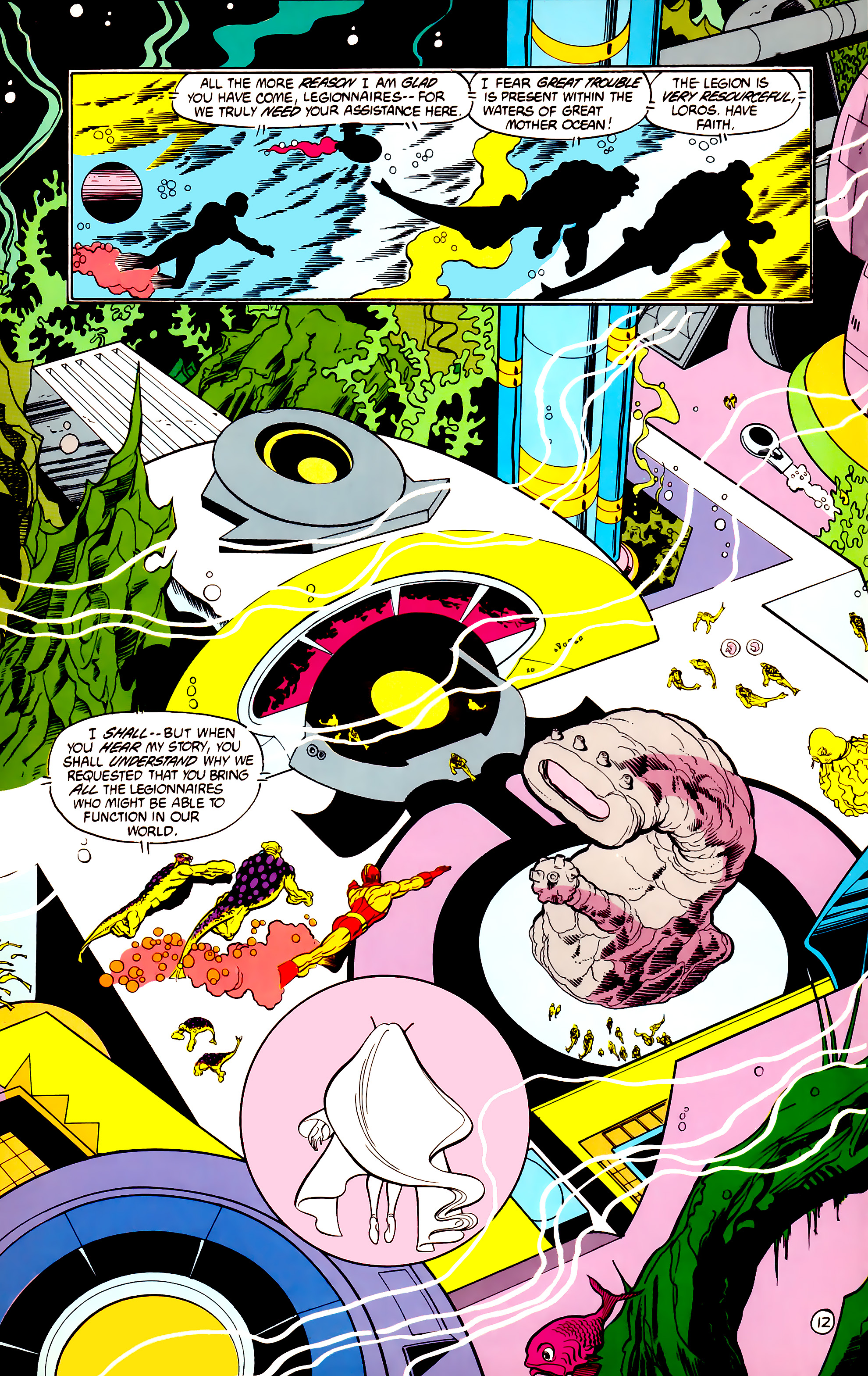 Legion of Super-Heroes (1984) 30 Page 12