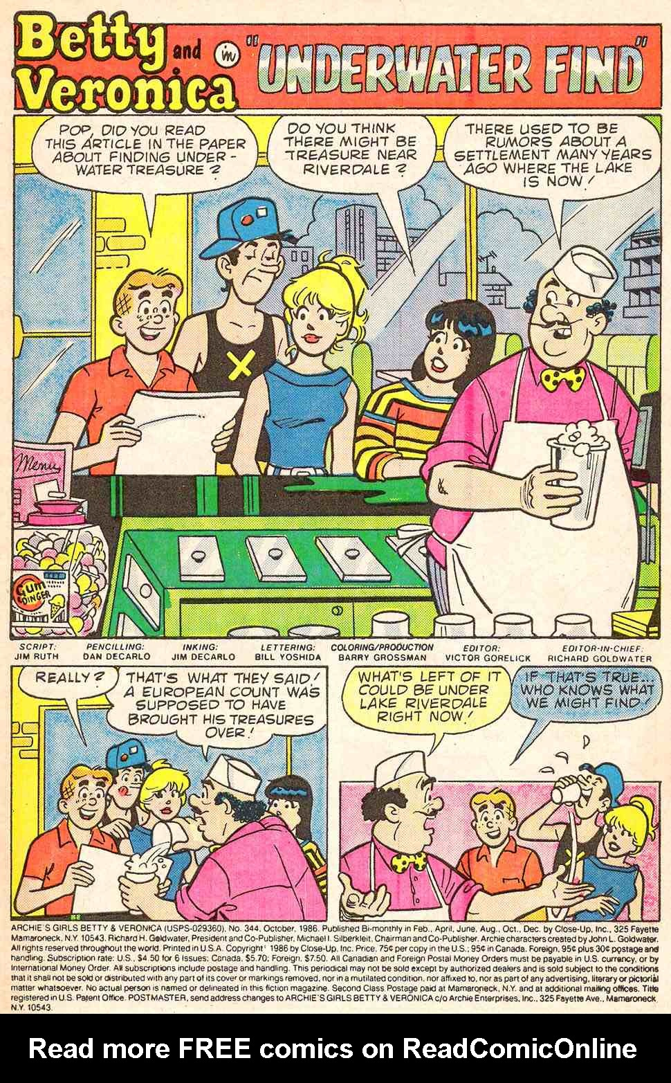 Read online Archie's Girls Betty and Veronica comic -  Issue #344 - 3