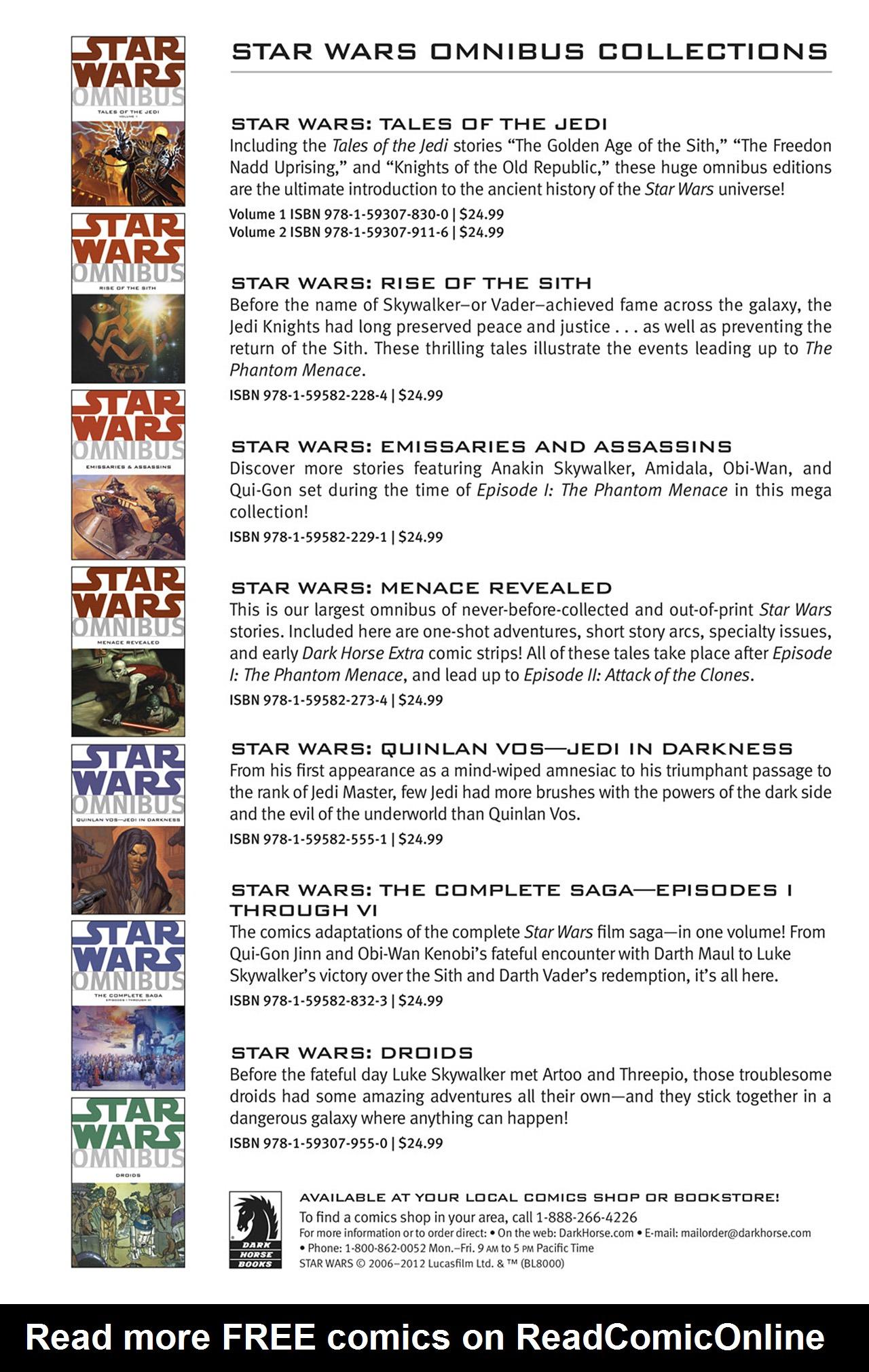 Read online Star Wars Omnibus comic -  Issue # Vol. 23.5 - 271