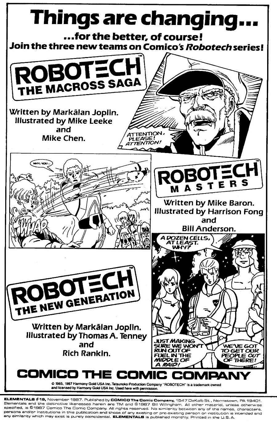 Elementals (1984) issue 19 - Page 2