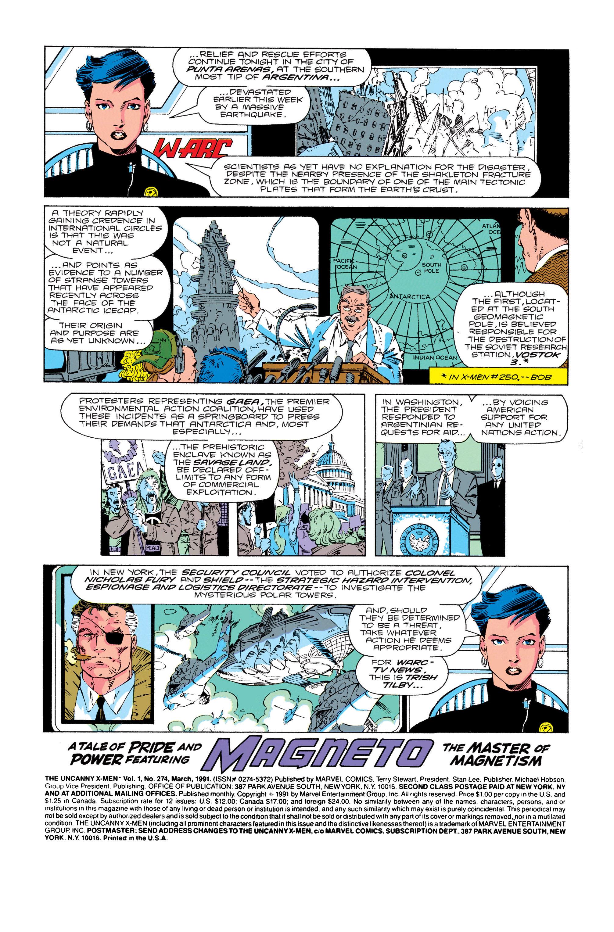 Read online Uncanny X-Men (1963) comic -  Issue #274 - 2