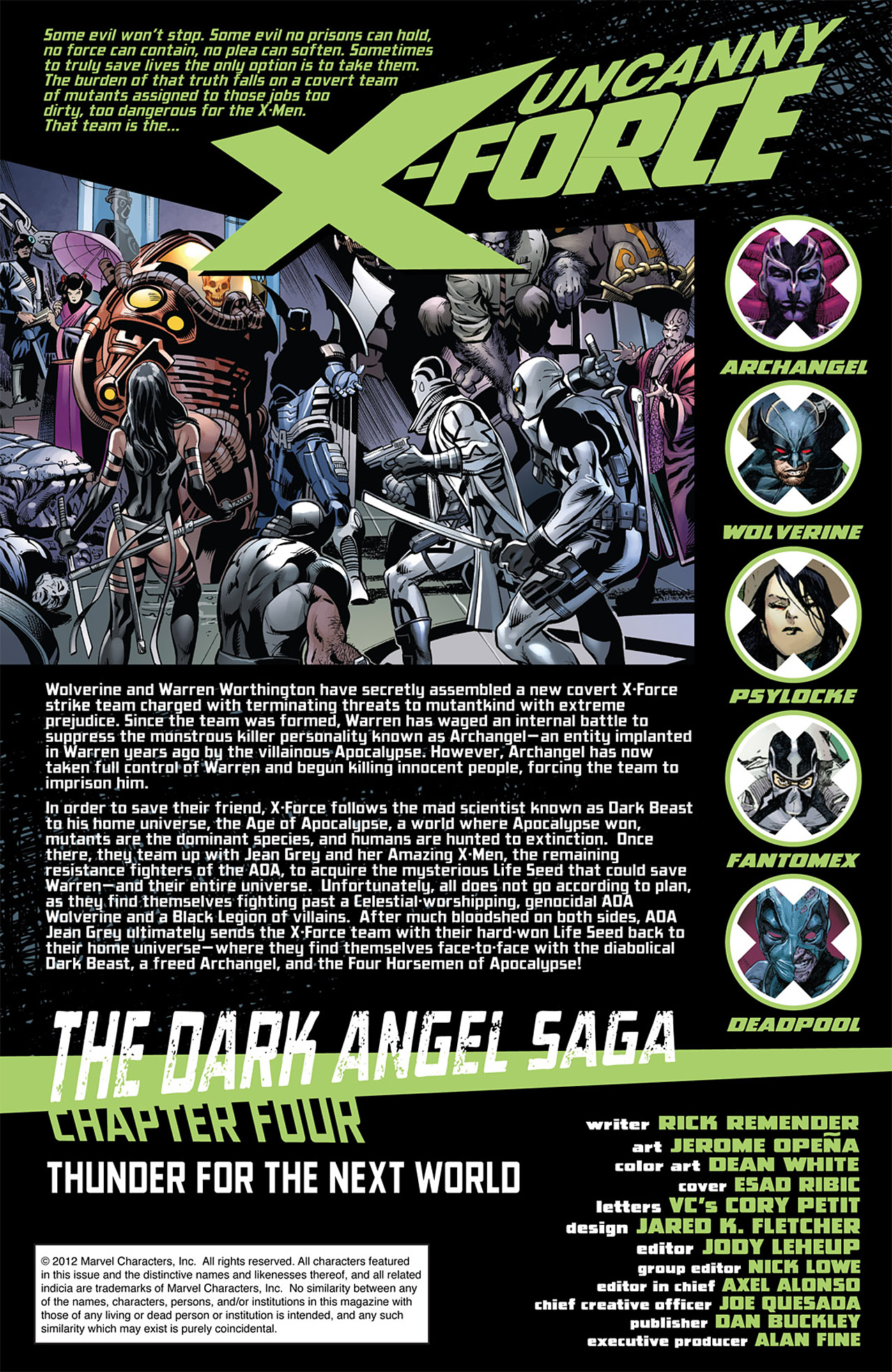 Read online Uncanny X-Force (2010) comic -  Issue #14 - 2