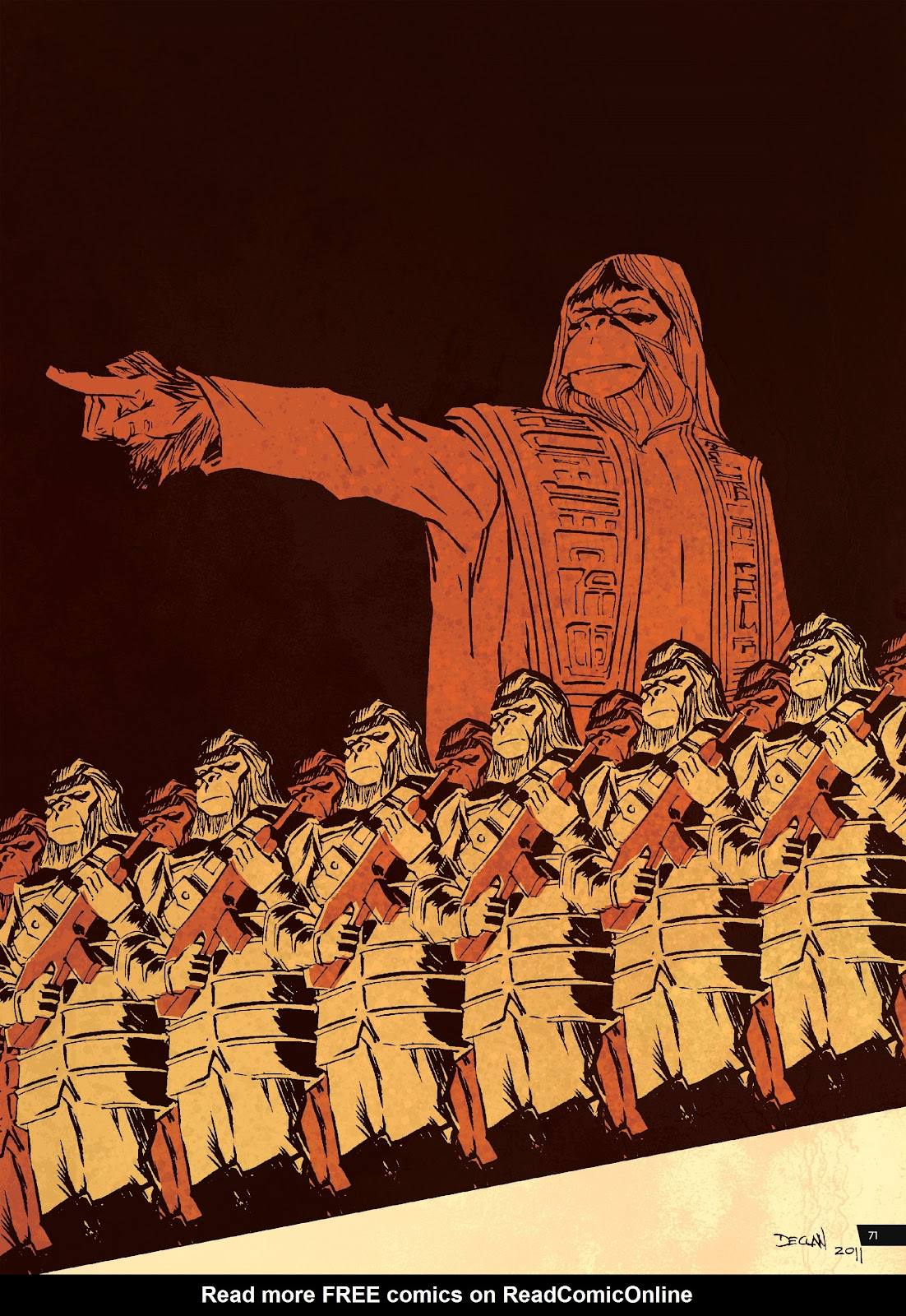 Read online Planet of the Apes Artist Tribute comic -  Issue # TPB - 71