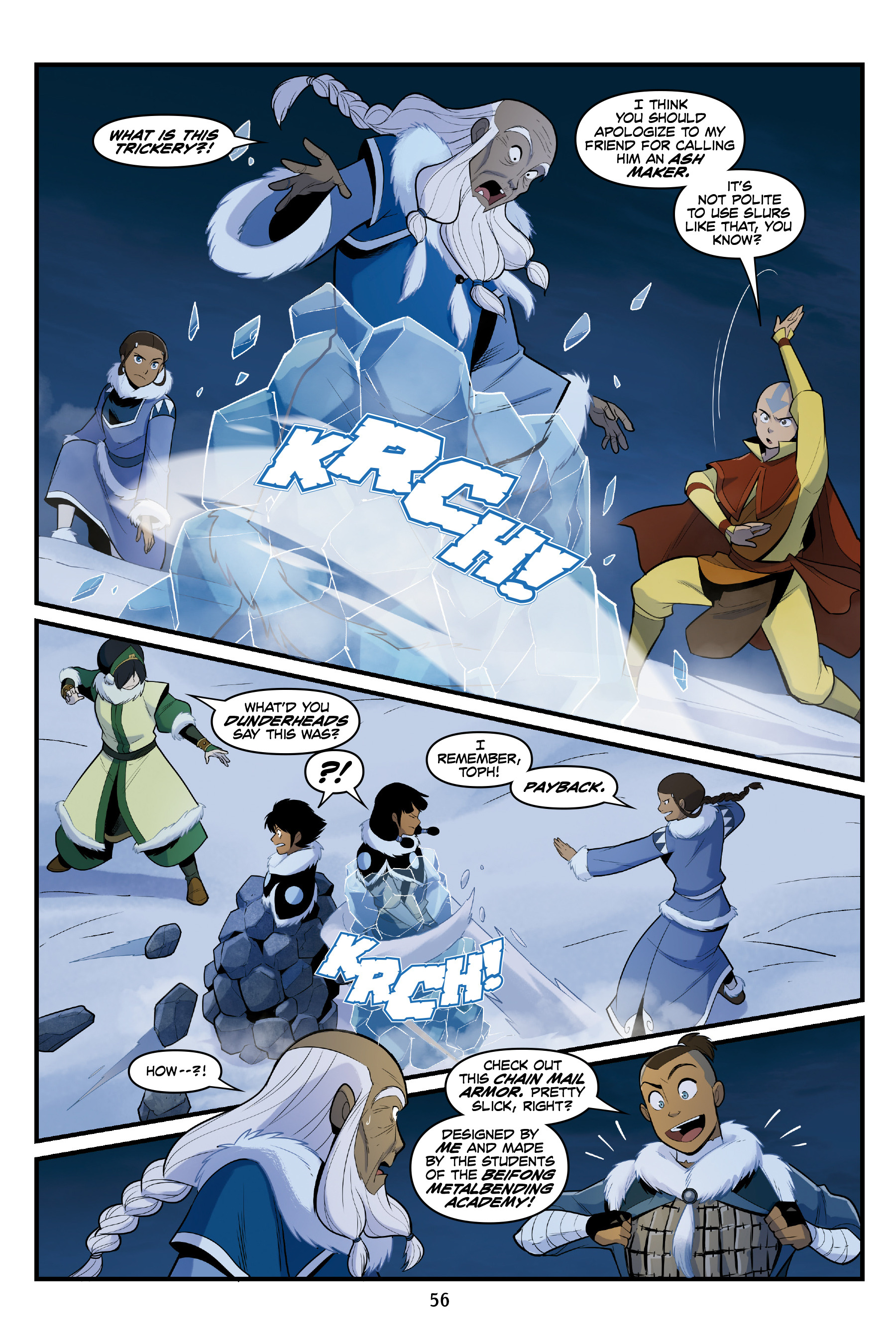 Read online Nickelodeon Avatar: The Last Airbender - North and South comic -  Issue #3 - 56