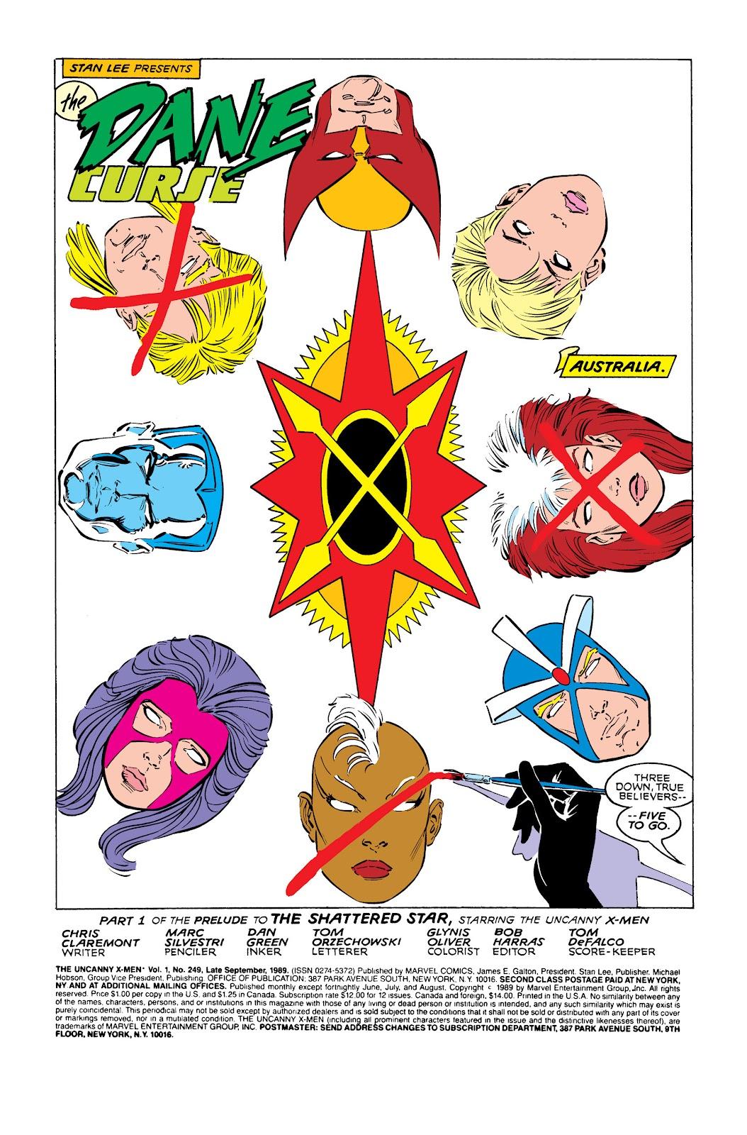 Uncanny X-Men (1963) issue 249 - Page 2