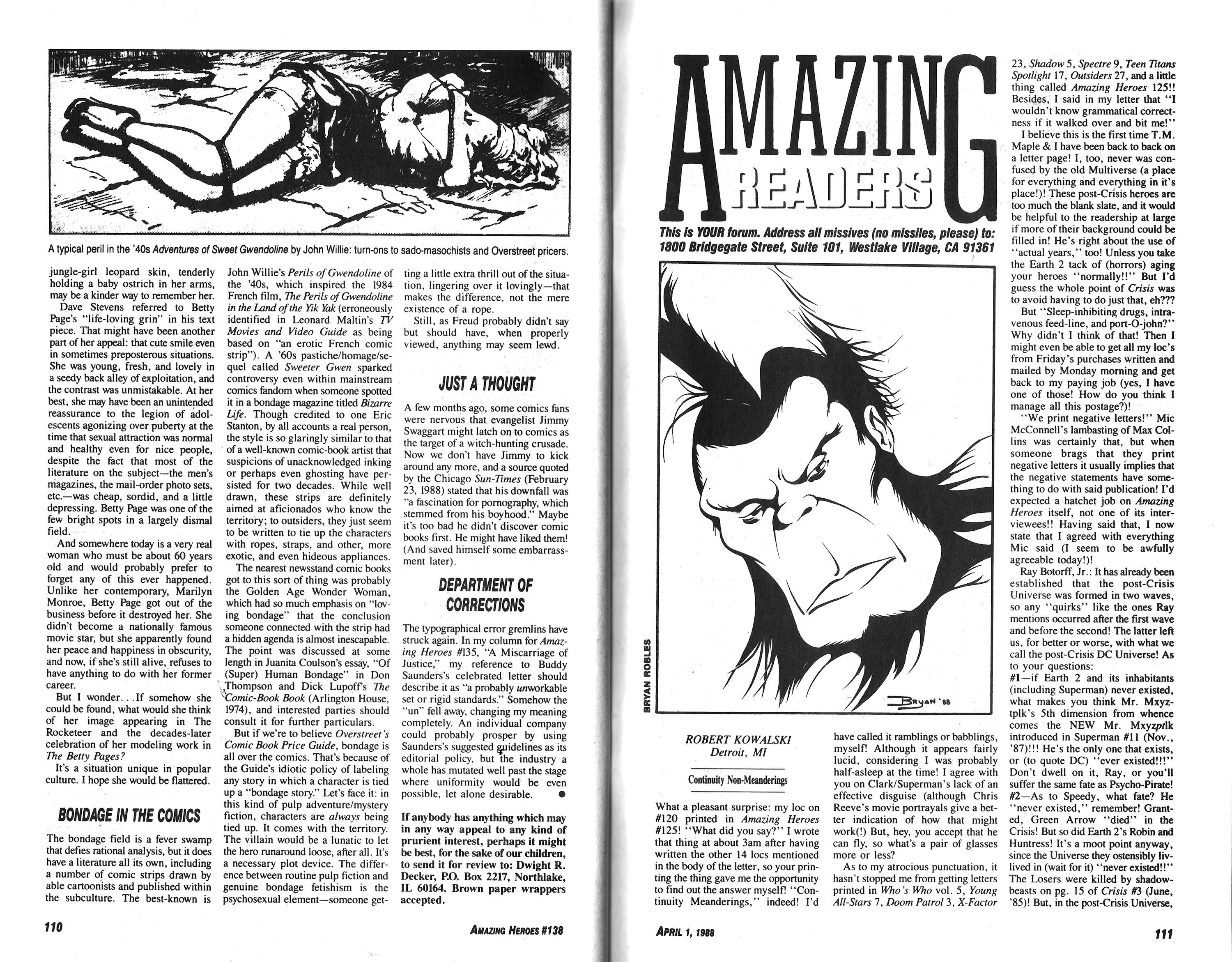 Read online Amazing Heroes comic -  Issue #138 - 56