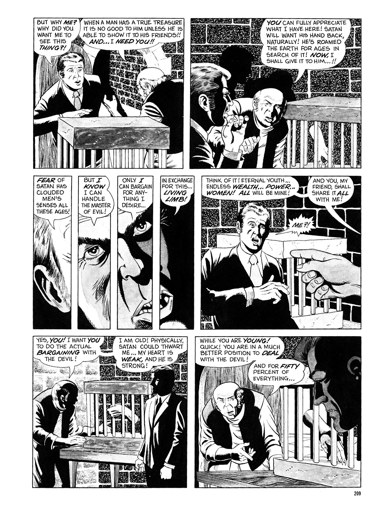 Read online Eerie Archives comic -  Issue # TPB 6 - 209