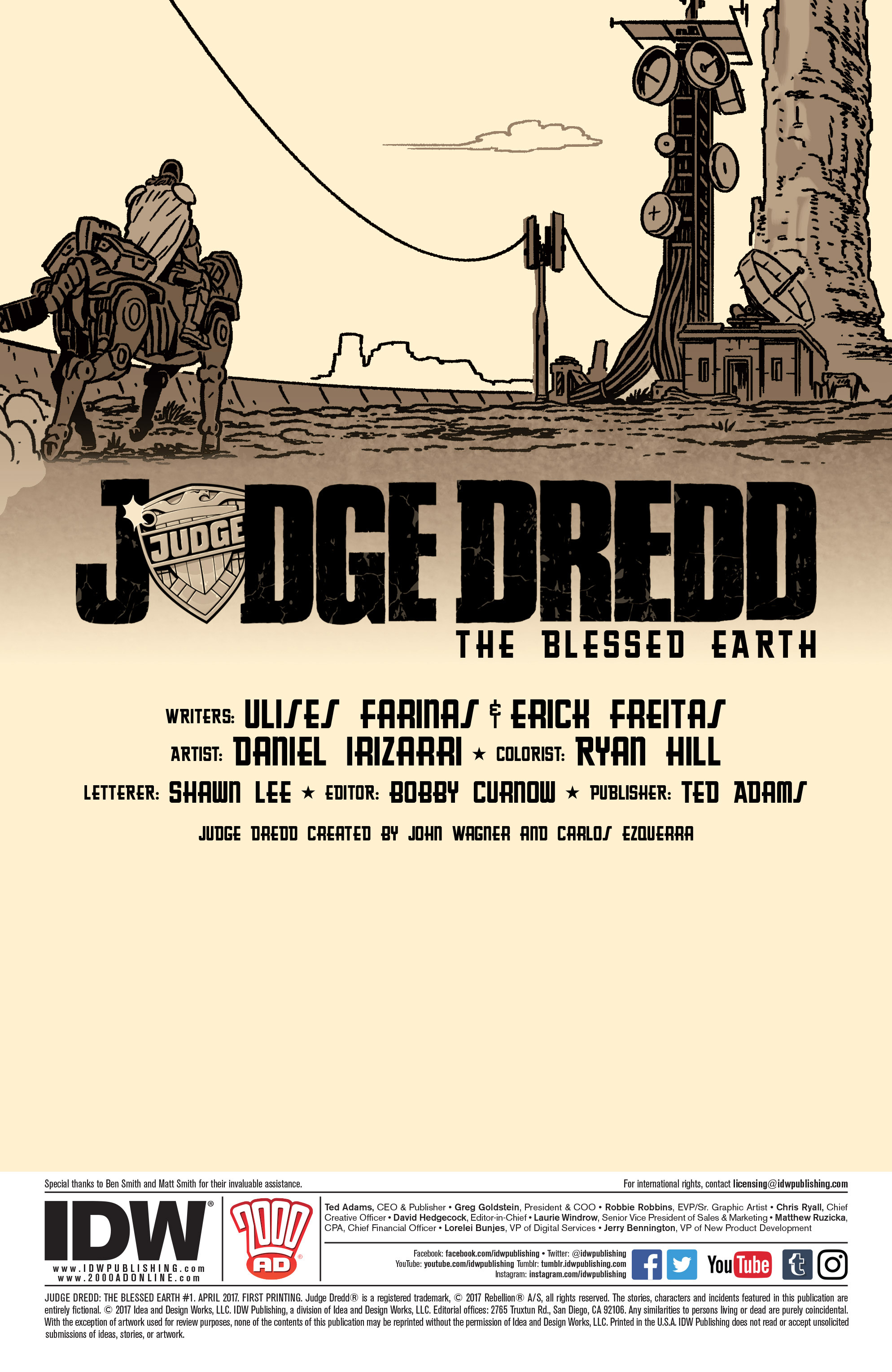 Read online Judge Dredd: The Blessed Earth comic -  Issue #1 - 2