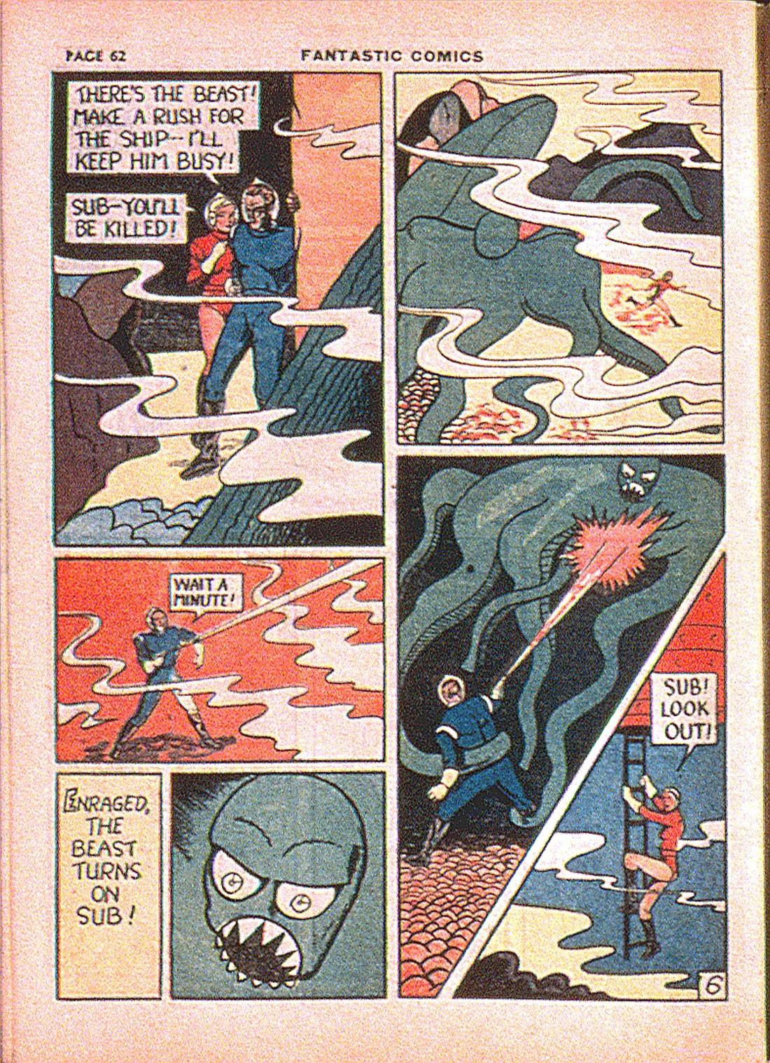 Read online Fantastic Comics comic -  Issue #7 - 64