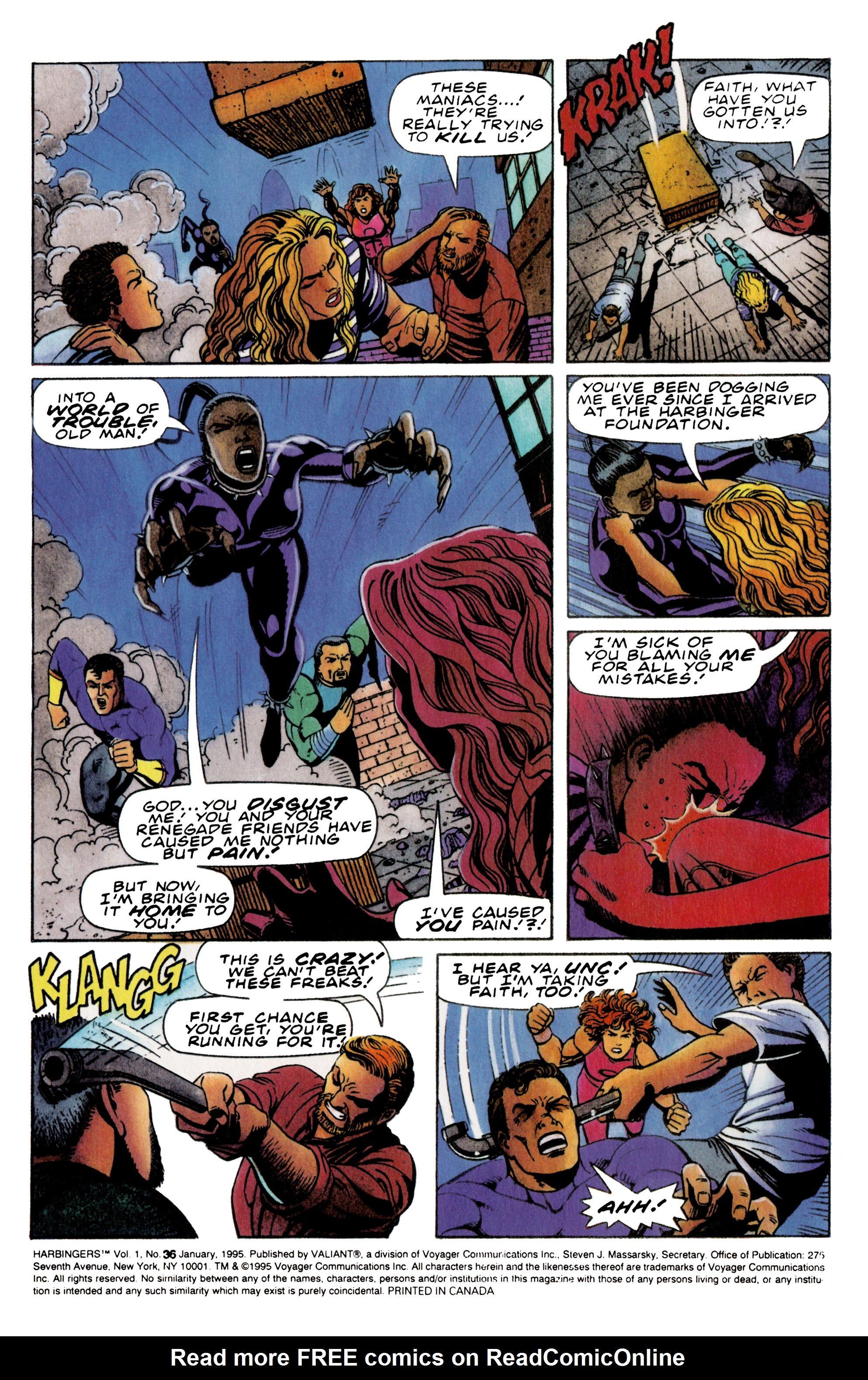 Read online Harbinger (1992) comic -  Issue #36 - 3