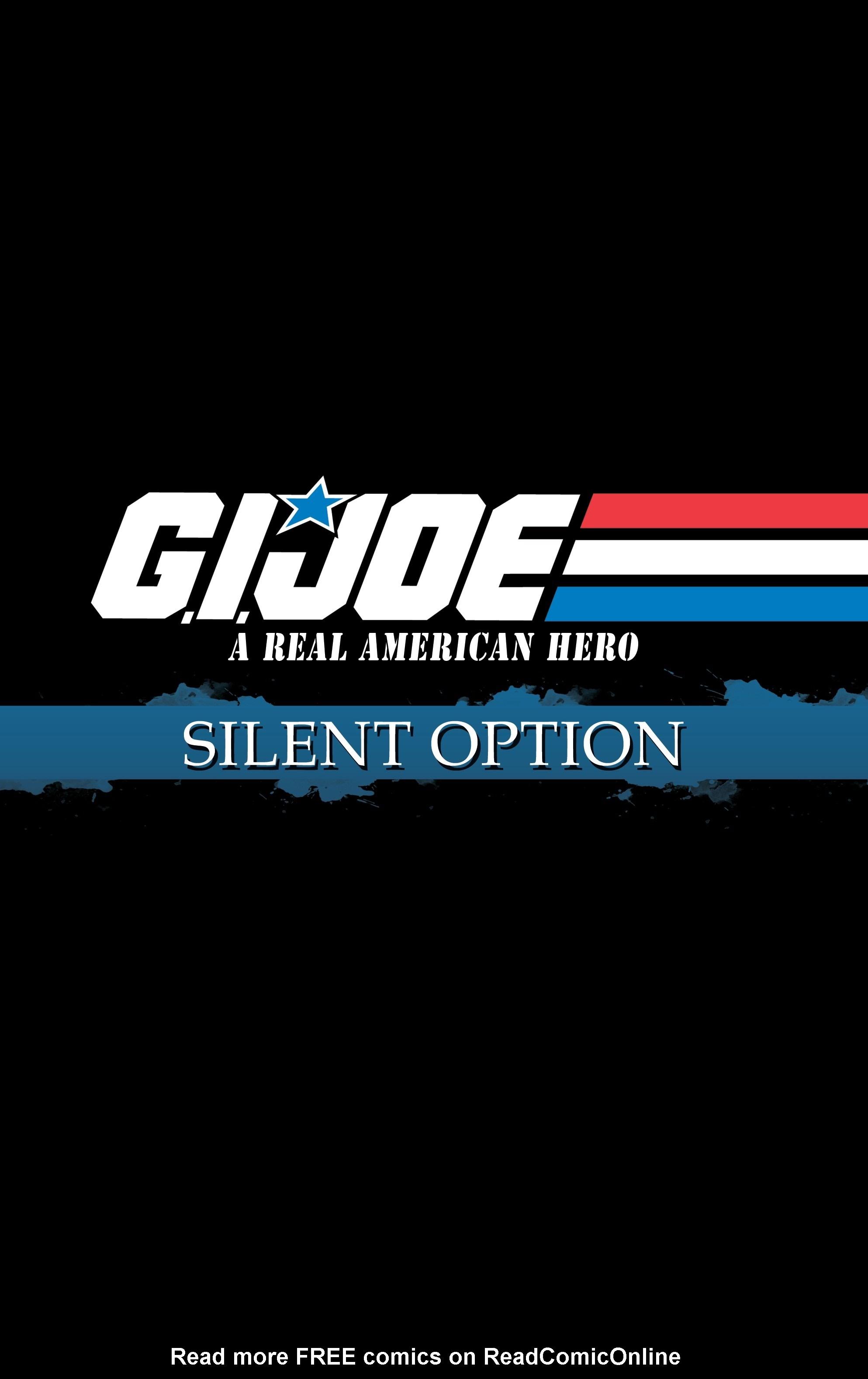 G.I. Joe: A Real American Hero: Silent Option Issue # 4 - ReadComic.Org