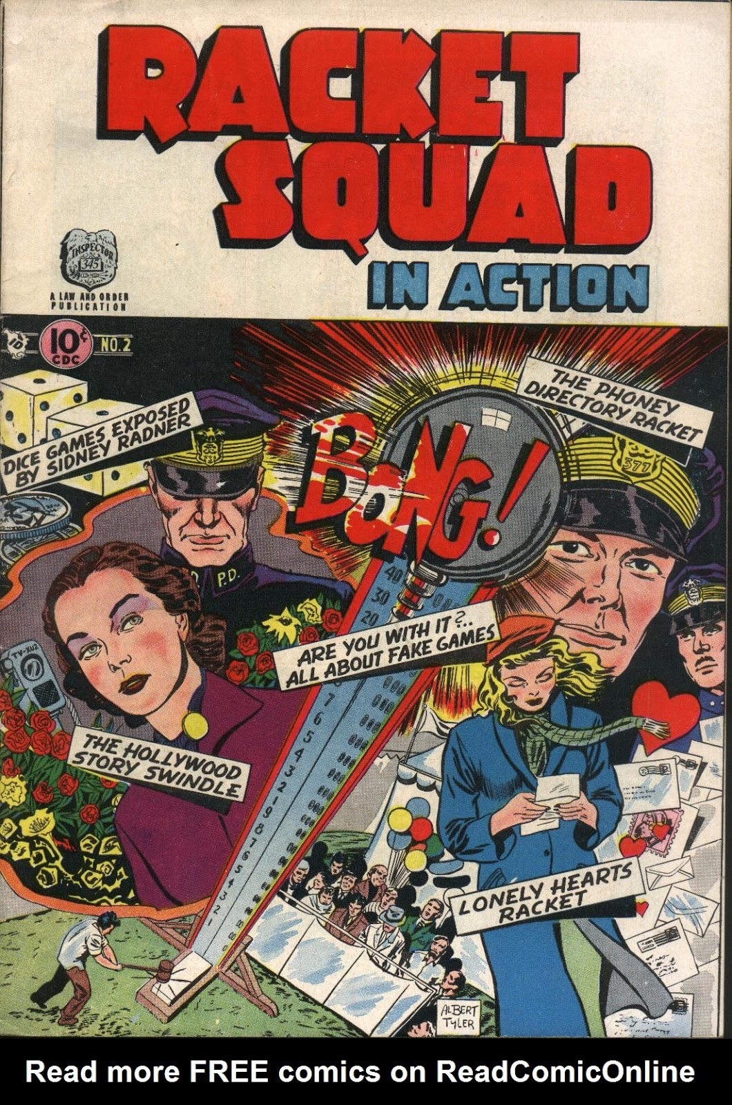 Read online Racket Squad in Action comic -  Issue #2 - 1