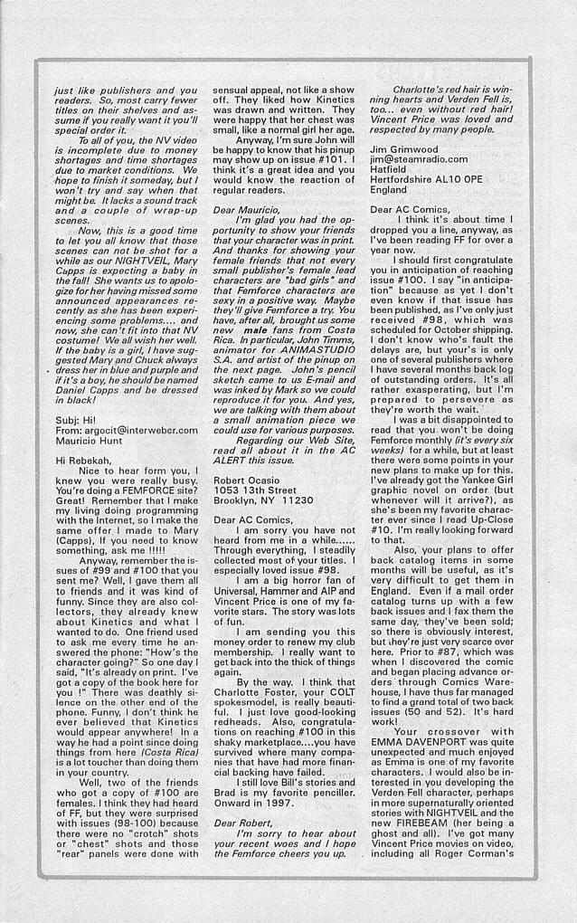Femforce Issue #101 #101 - English 30