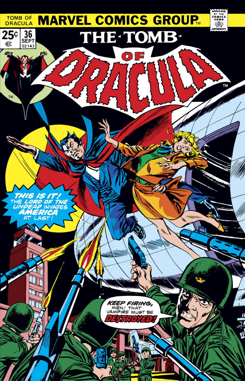 Tomb of Dracula (1972) issue 36 - Page 1